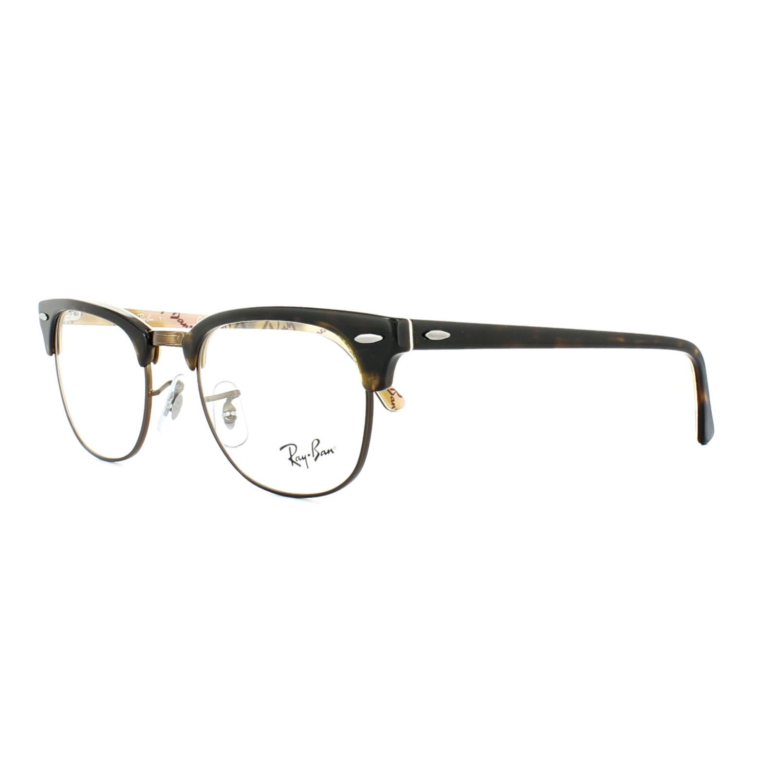 Ray-Ban Glasses Frames 5154 Clubmaster 5650 Havana Texture ...