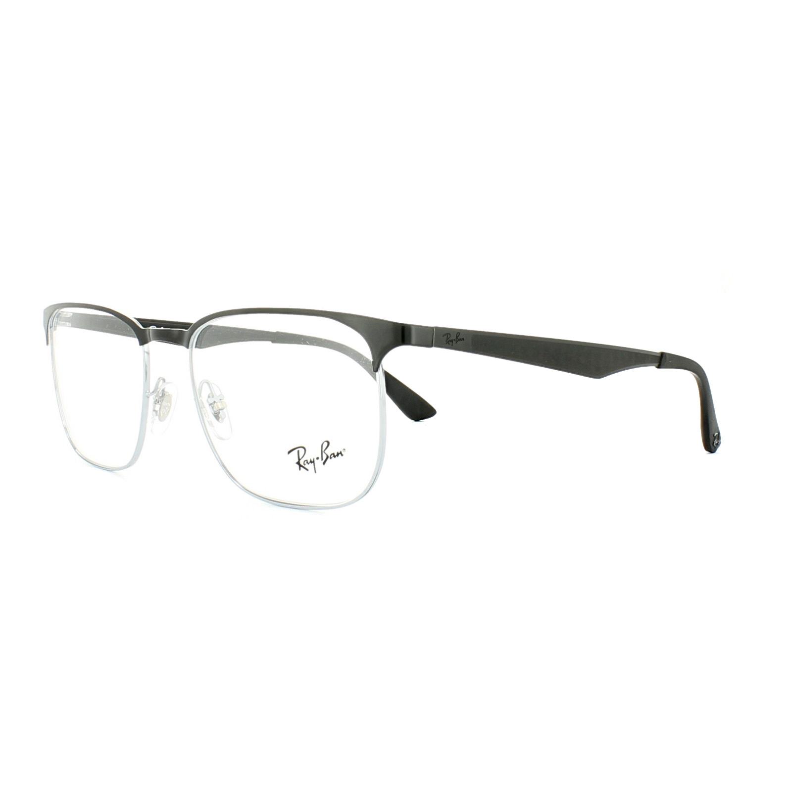 d8501fdee7 Sentinel Ray-Ban Glasses Frames 6363 2861 Silver Top Black