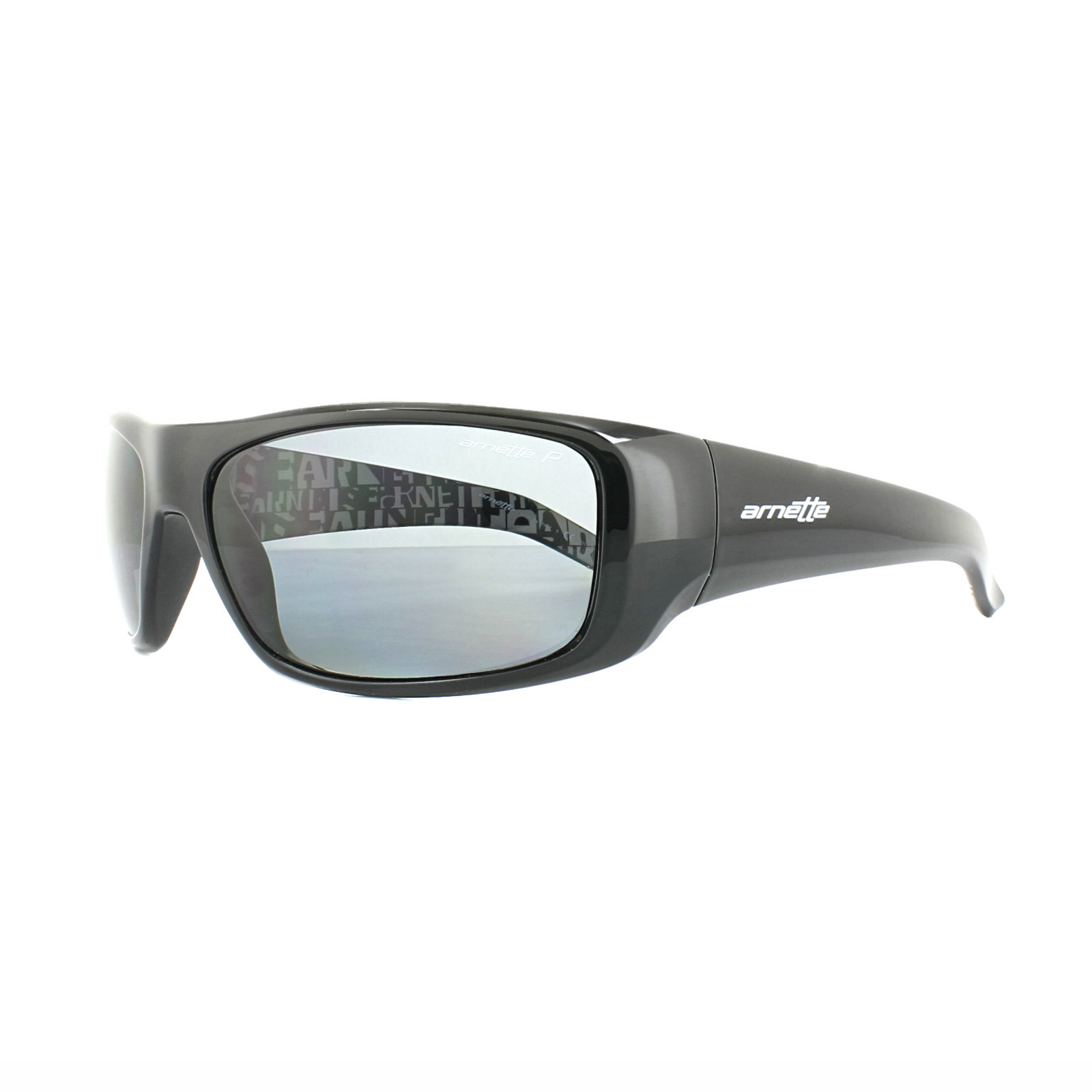 fff9dc9a60 Sentinel Arnette Sunglasses Hot Shot 4182 214981 Polished Black Graphics  Grey Polarized. Sentinel Thumbnail 2