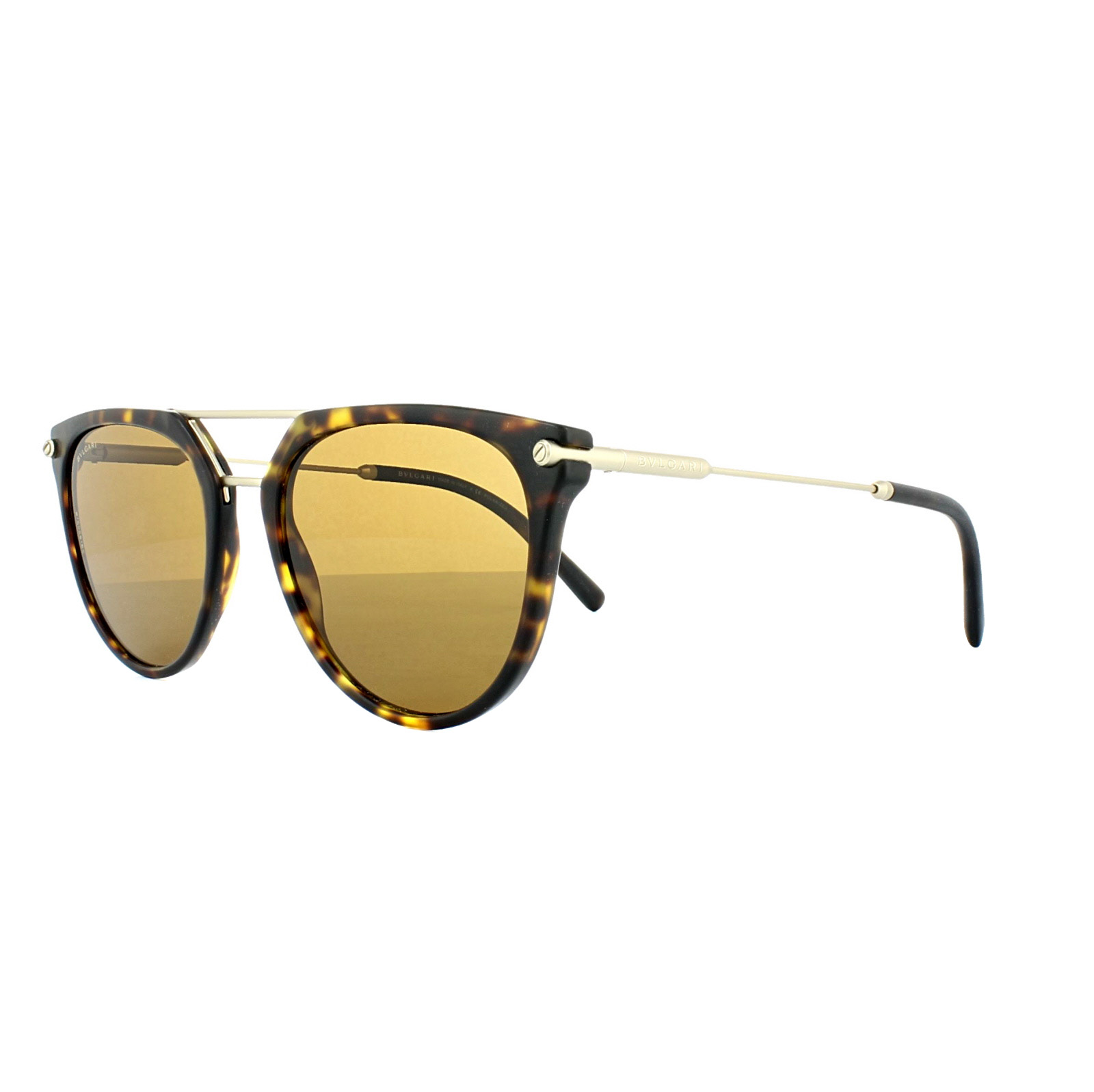 06c566a179 Sentinel Bvlgari Sunglasses 7029 5411 83 Matt Dark Havana Gold Brown  Polarized