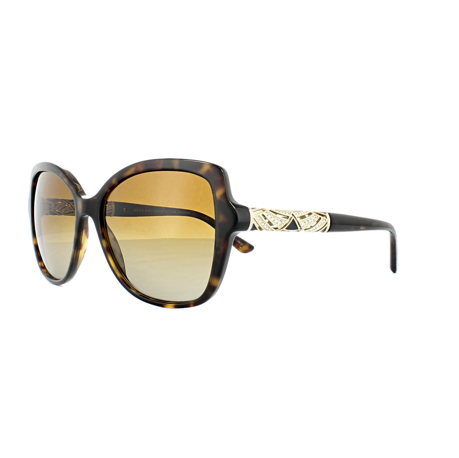 6a2355c291 Sentinel Bvlgari Sunglasses 8174B 504 T5 Dark Havana Brown Gradient  Polarized