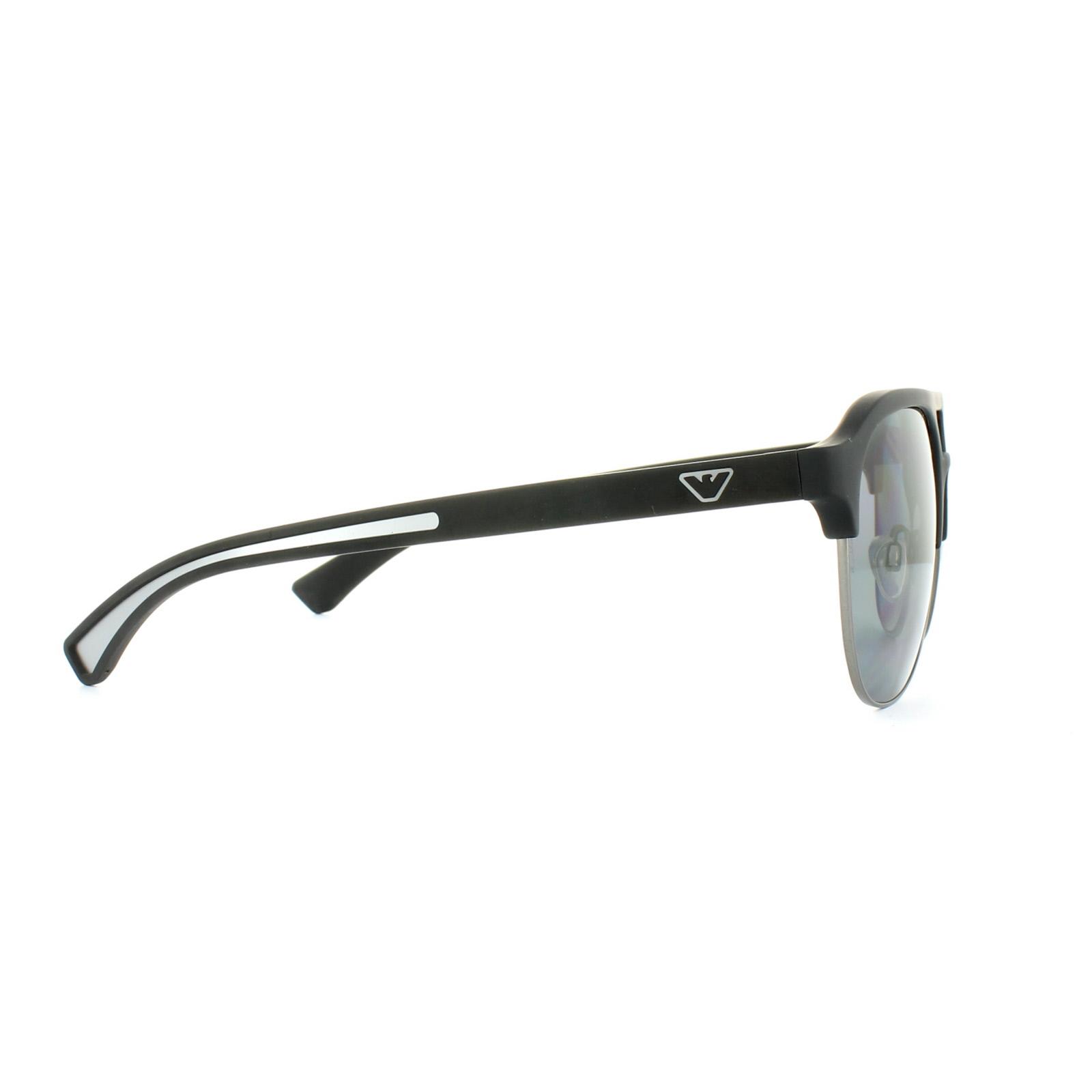 Sentinel Emporio Armani Sunglasses 4077 5063 81 Black Rubber Grey Polarized 560257c99e