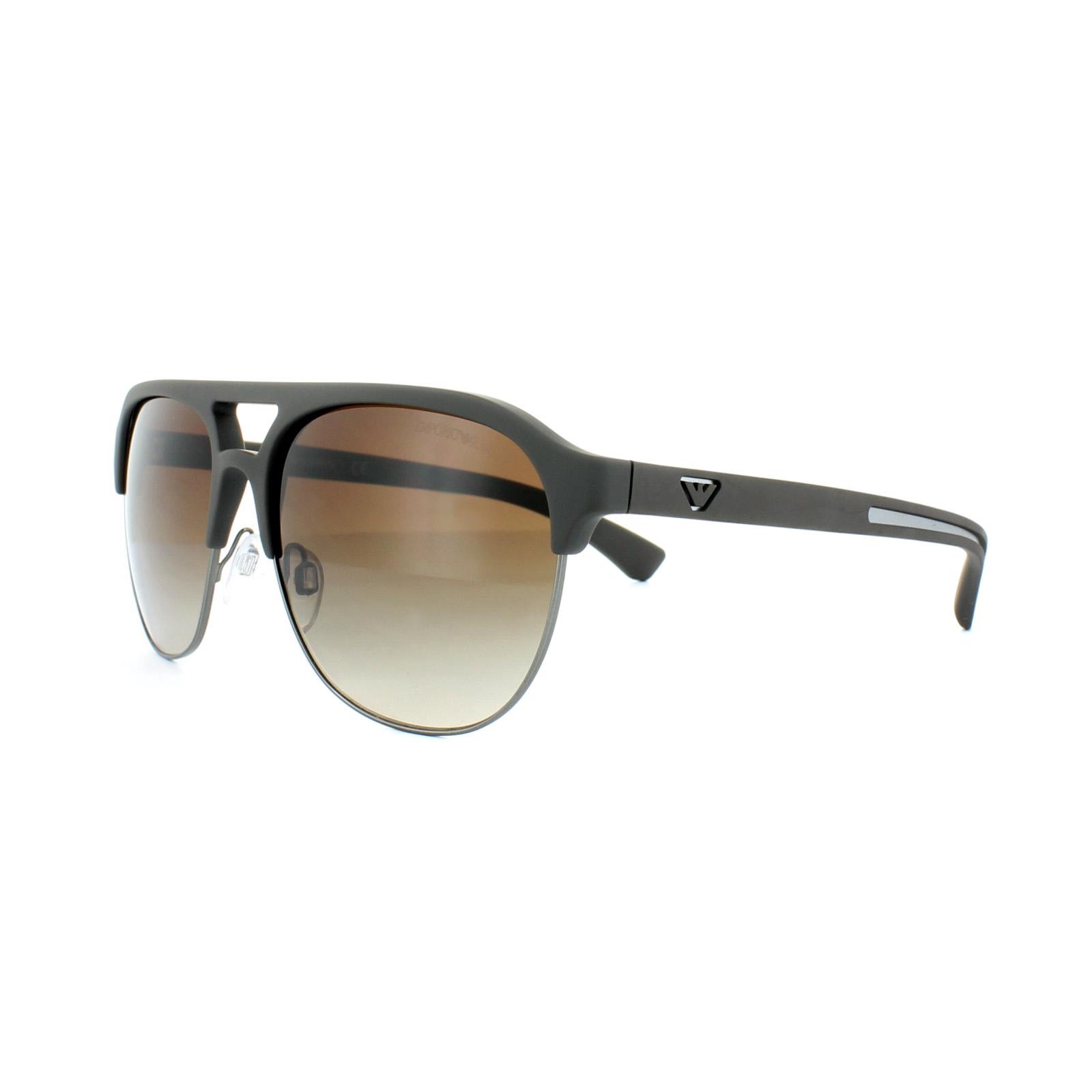9c67cbb60a0 Sentinel Emporio Armani Sunglasses 4077 5305 13 Brown Rubber Brown Gradient