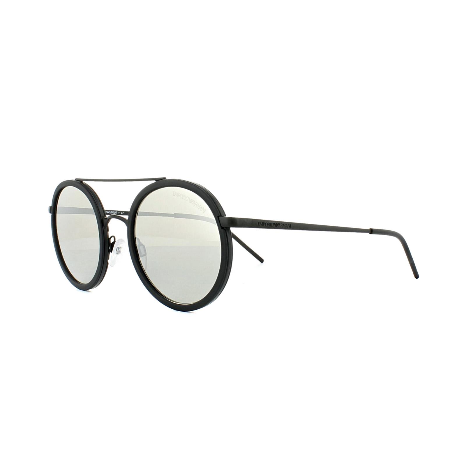 b321e584db2d Sentinel Emporio Armani Sunglasses 2041 3001 6G Matt Black Light Grey  Silver Mirror