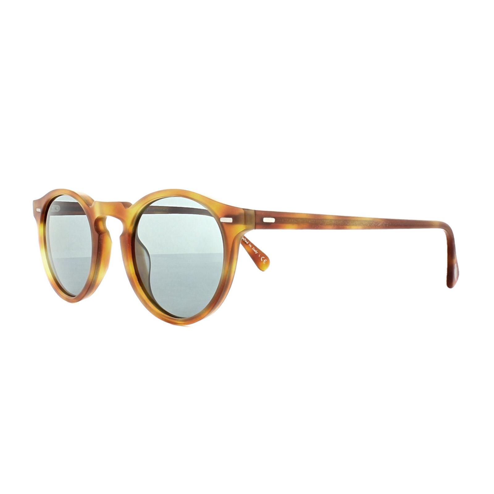Oliver Peoples Gregory Peck Sun Sonnenbrille Hellbraun und Tortoise 1483R8 47mm 5JvB98r