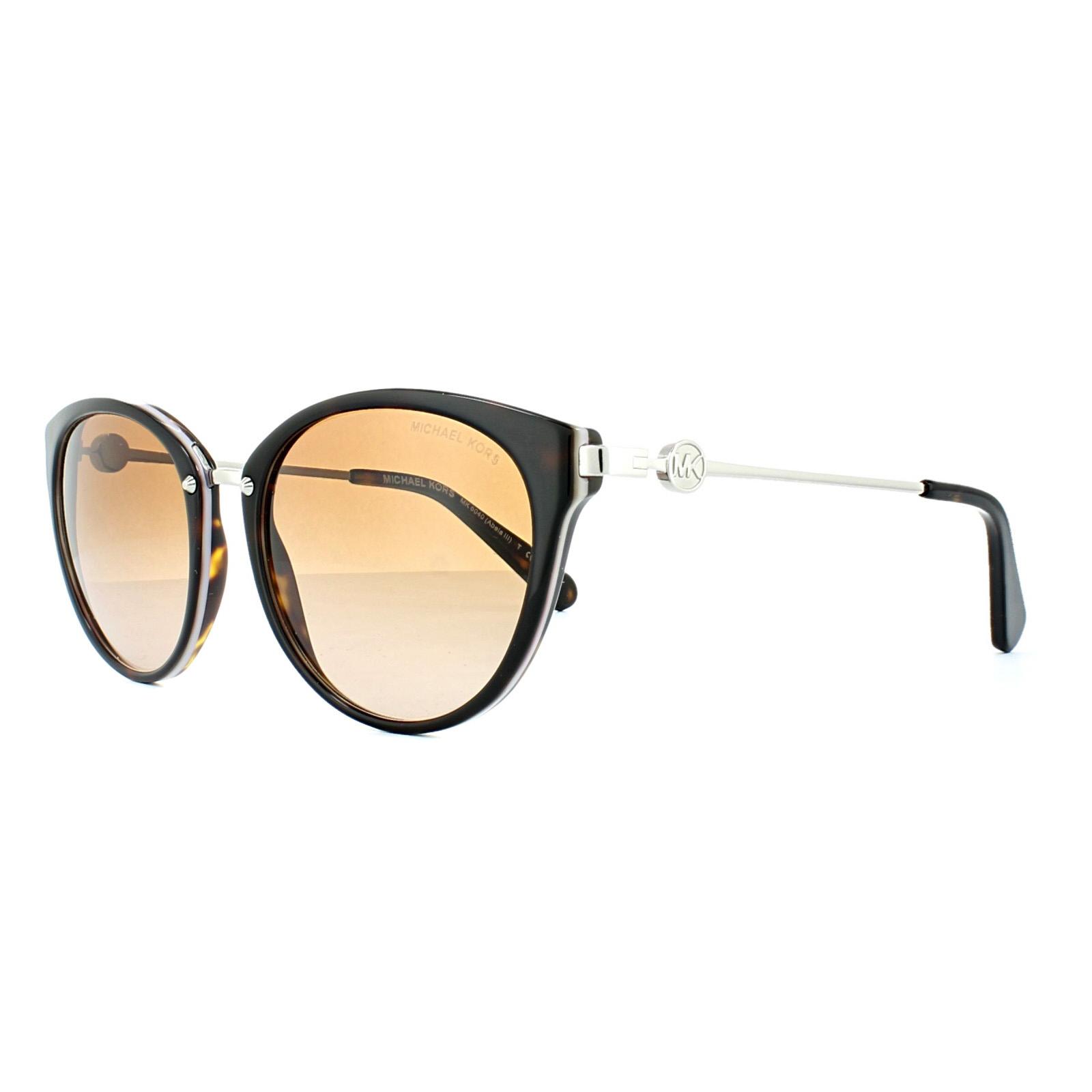 b2c089f564f10 Sentinel Michael Kors Sunglasses Abela III 6040 3145 13 Dark Havana Lilac  Brown Gradient