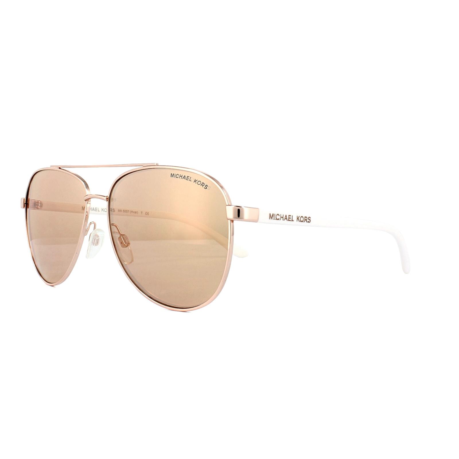 4d525a1774 Sentinel Michael Kors Sunglasses Hvar 5007 1080 R1 Rose Gold Rose Gold  Mirror