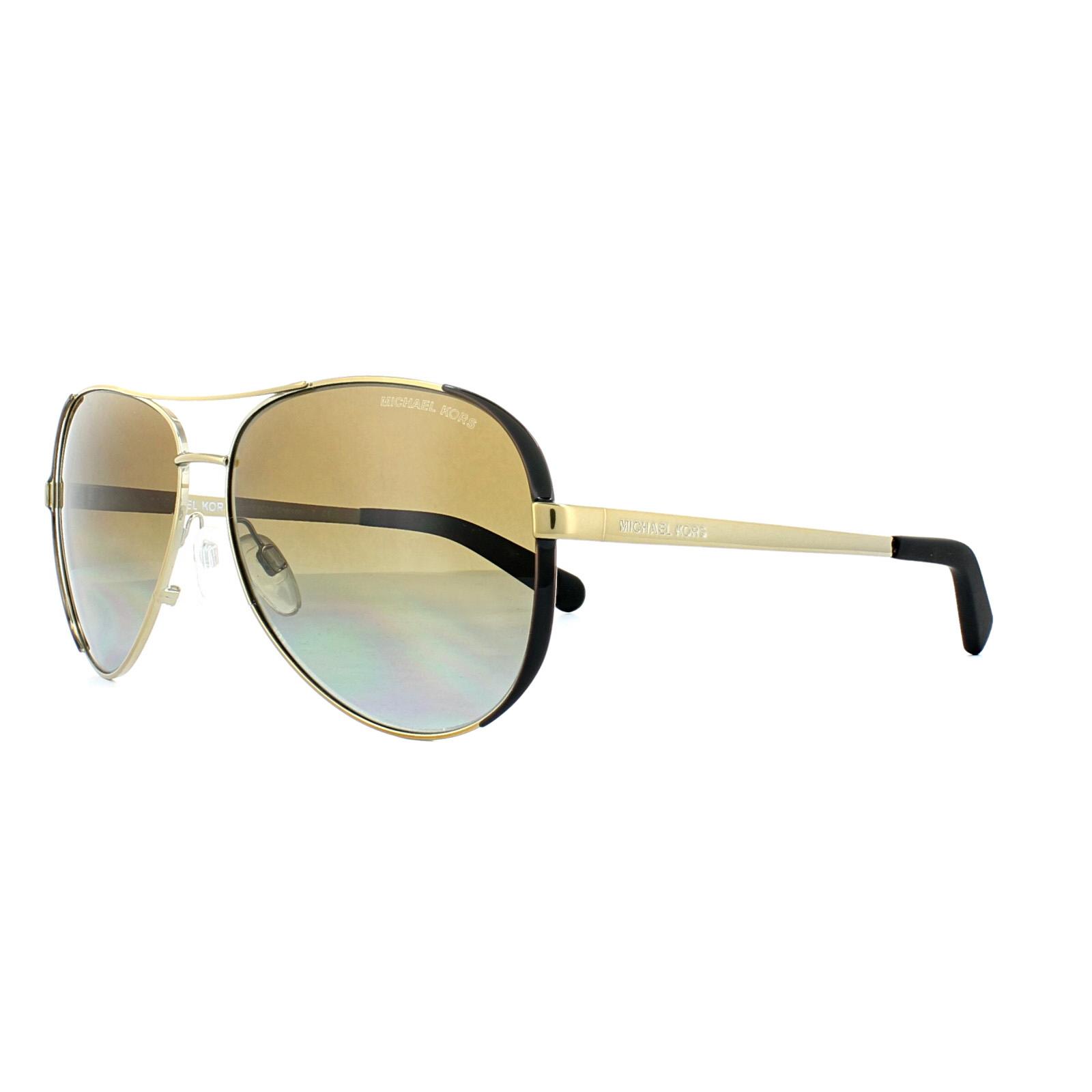 97f711de50913 Sentinel Michael Kors Sunglasses Chelsea 5004 1014 T5 Gold Brown Gradient  Polarized
