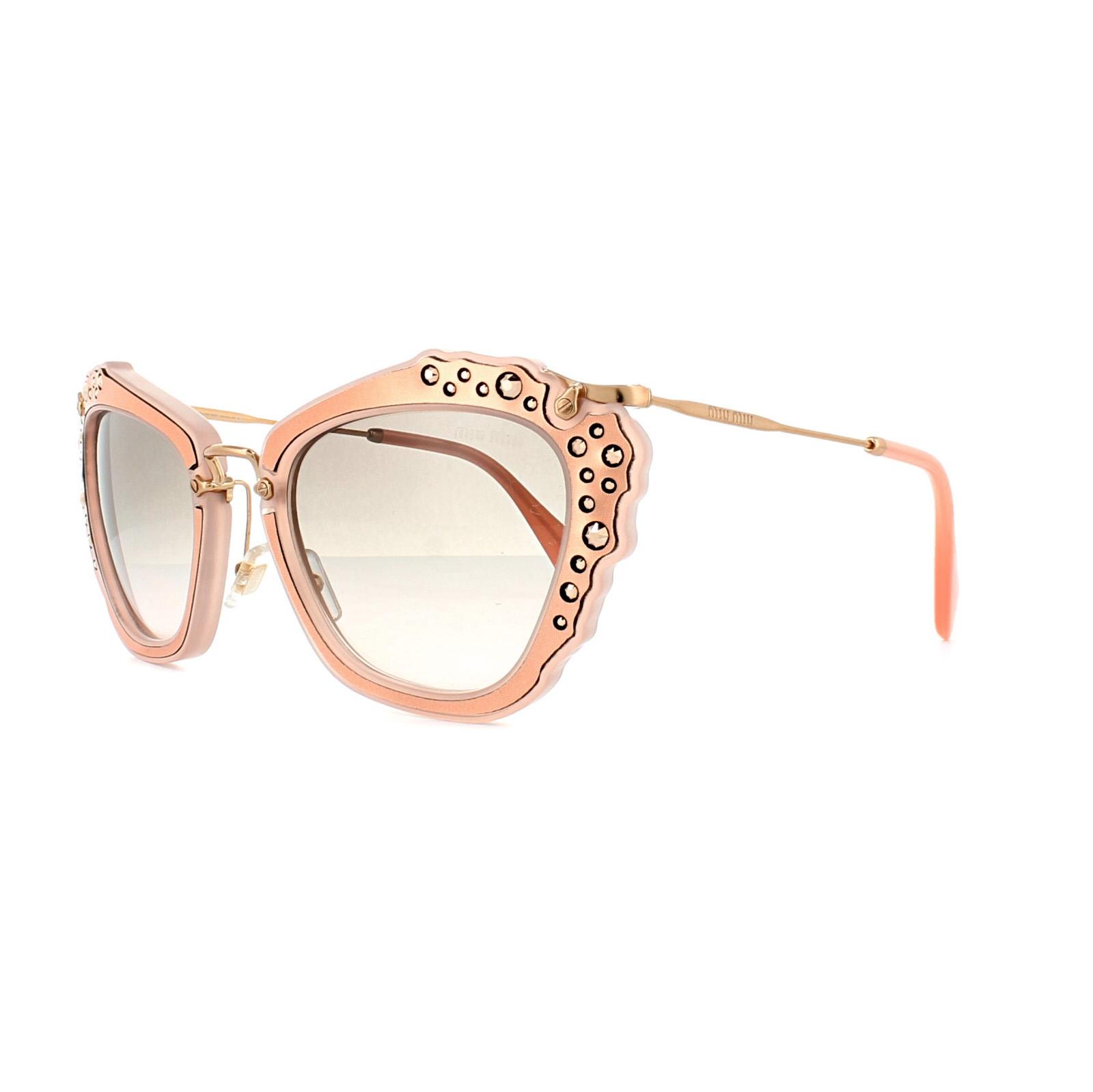 CENTINELA Miu Miu gafas de sol 04QS TV14K0 mate rosa gris rosa degradado 0e861d8cb9