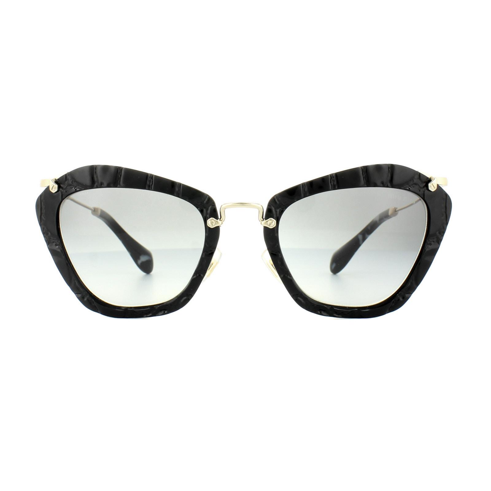 681452b0936 Sentinel Miu Miu Sunglasses 10NS USW3M1 Black Light Grey Gradient