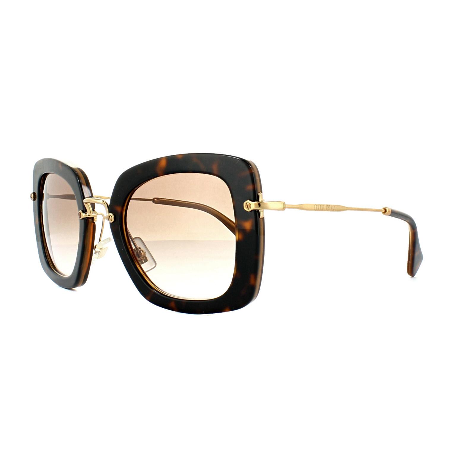 Miu Miu Sunglasses 07OS KAZ0A6 Top Havana Opal Brown Gradient ...