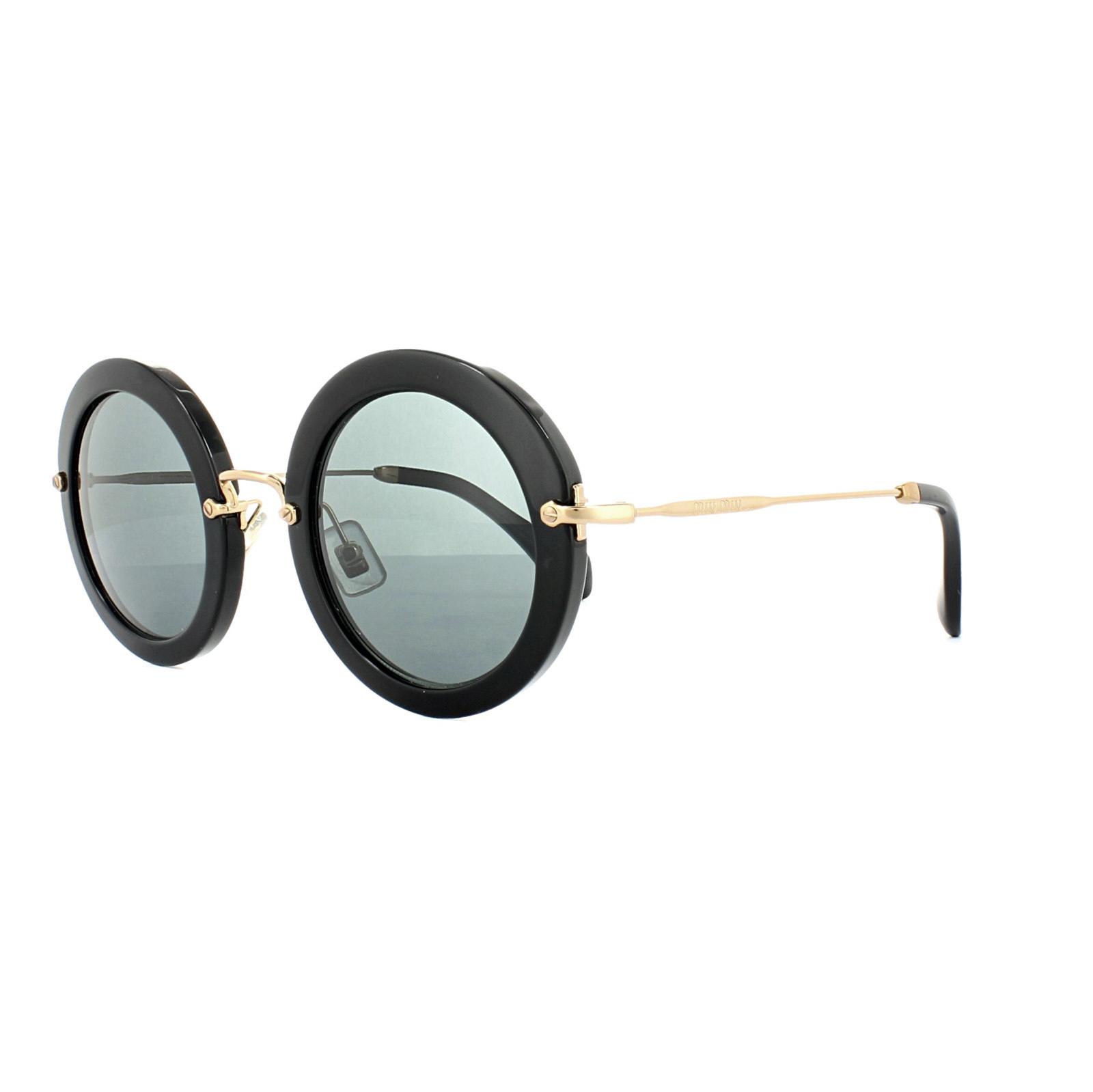 4e6f76f720b Sentinel Miu Miu Sunglasses 13NS 1AB1A1 Black Grey