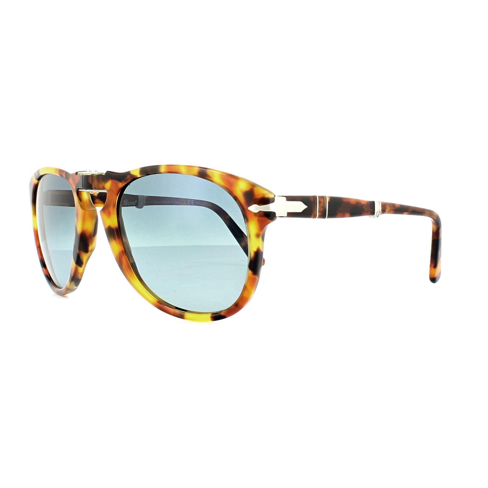 ab03b86f4c Sentinel Persol Sunglasses 0714 1052S3 Madreterra Dark Blue Gradient  Polarized