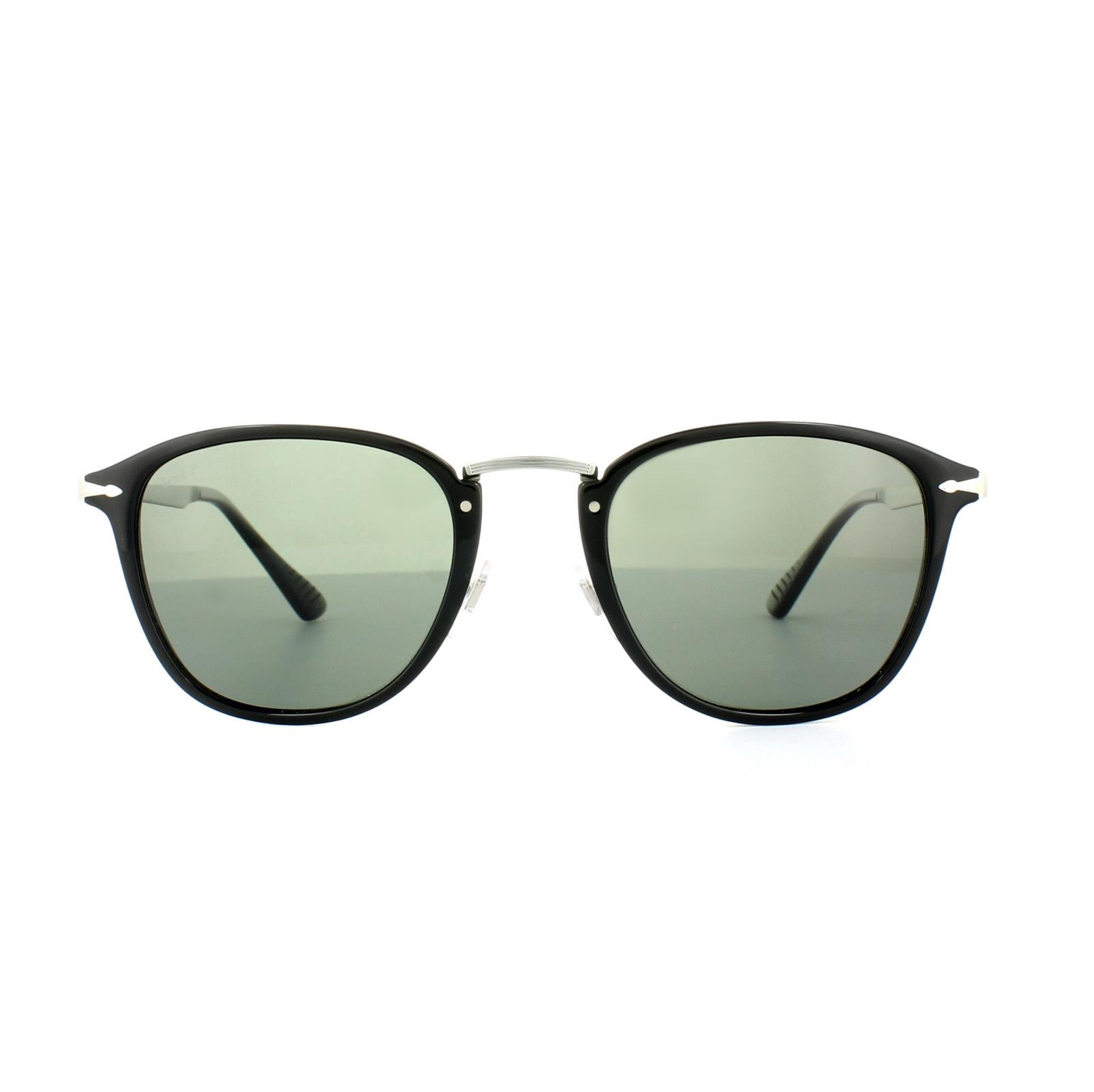 1c3042365e Persol Sunglasses 3165 95 58 Black Green Polarized 8053672665895