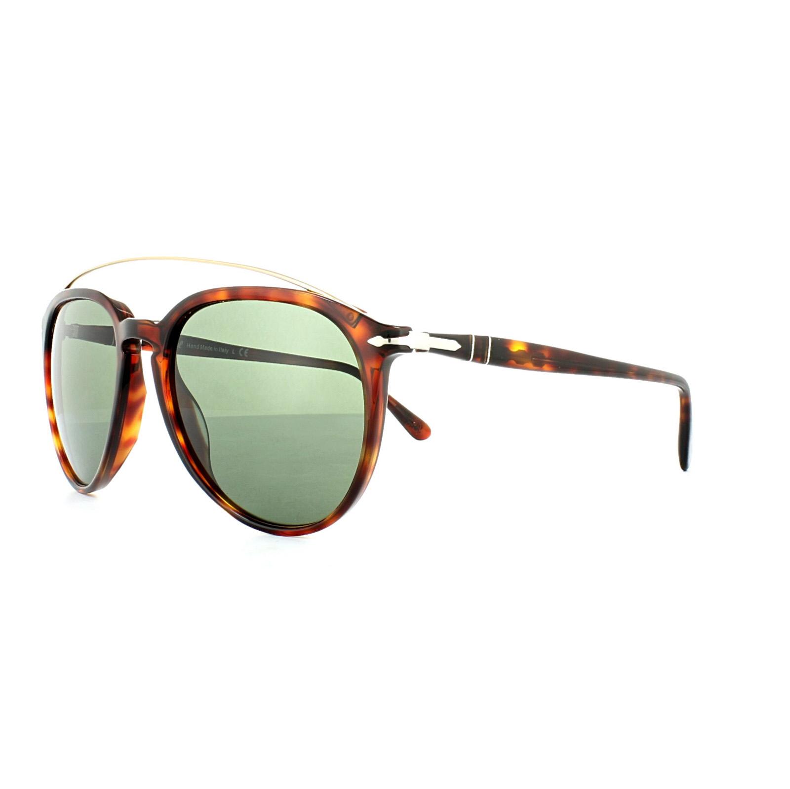 0cbfeb1f49 Persol Sunglasses 3159 9015 31 Havana Green 8053672665659