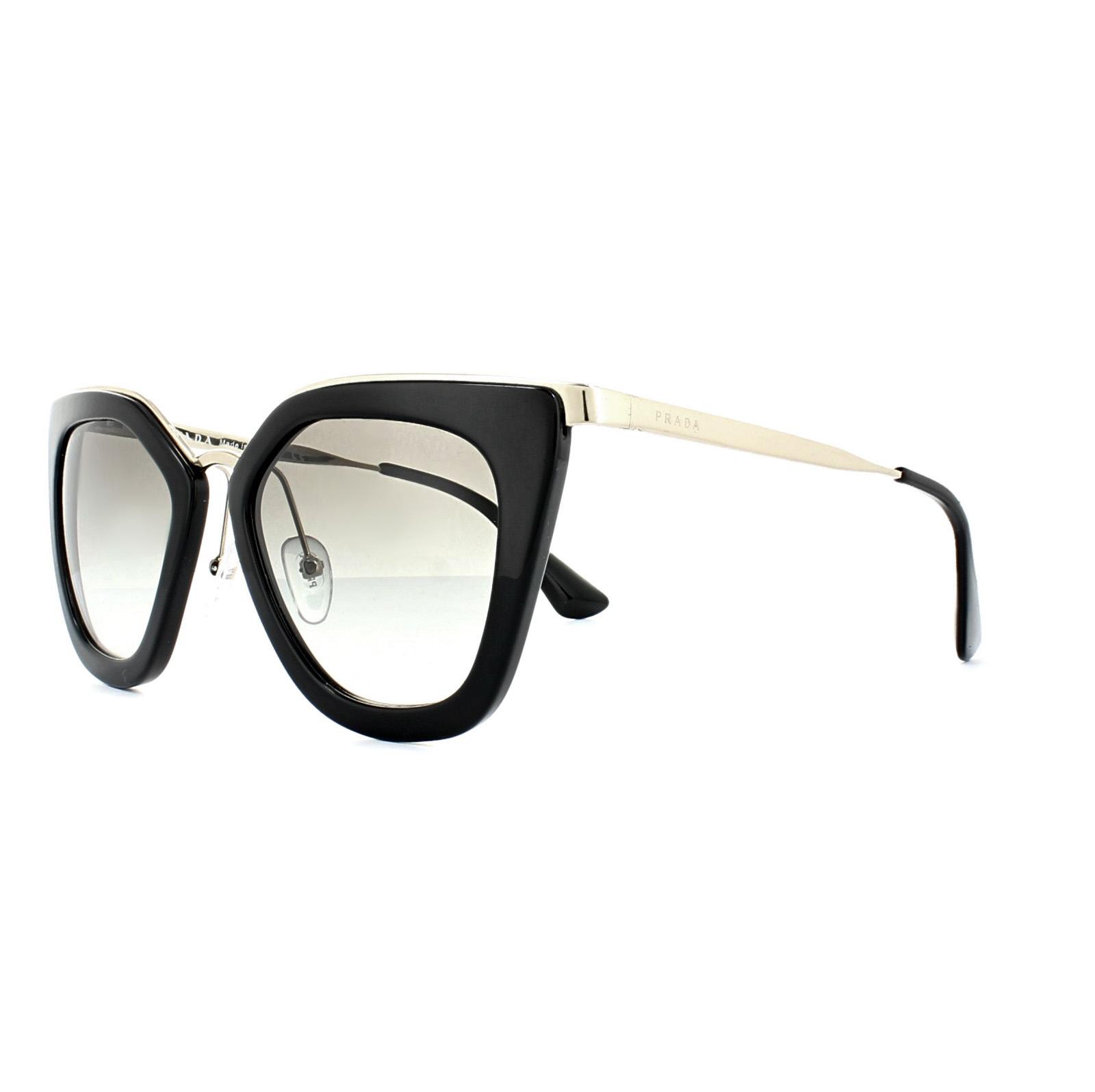 PRADA Prada Damen Sonnenbrille » PR 53SS«, schwarz, 1AB0A7 - schwarz/grau