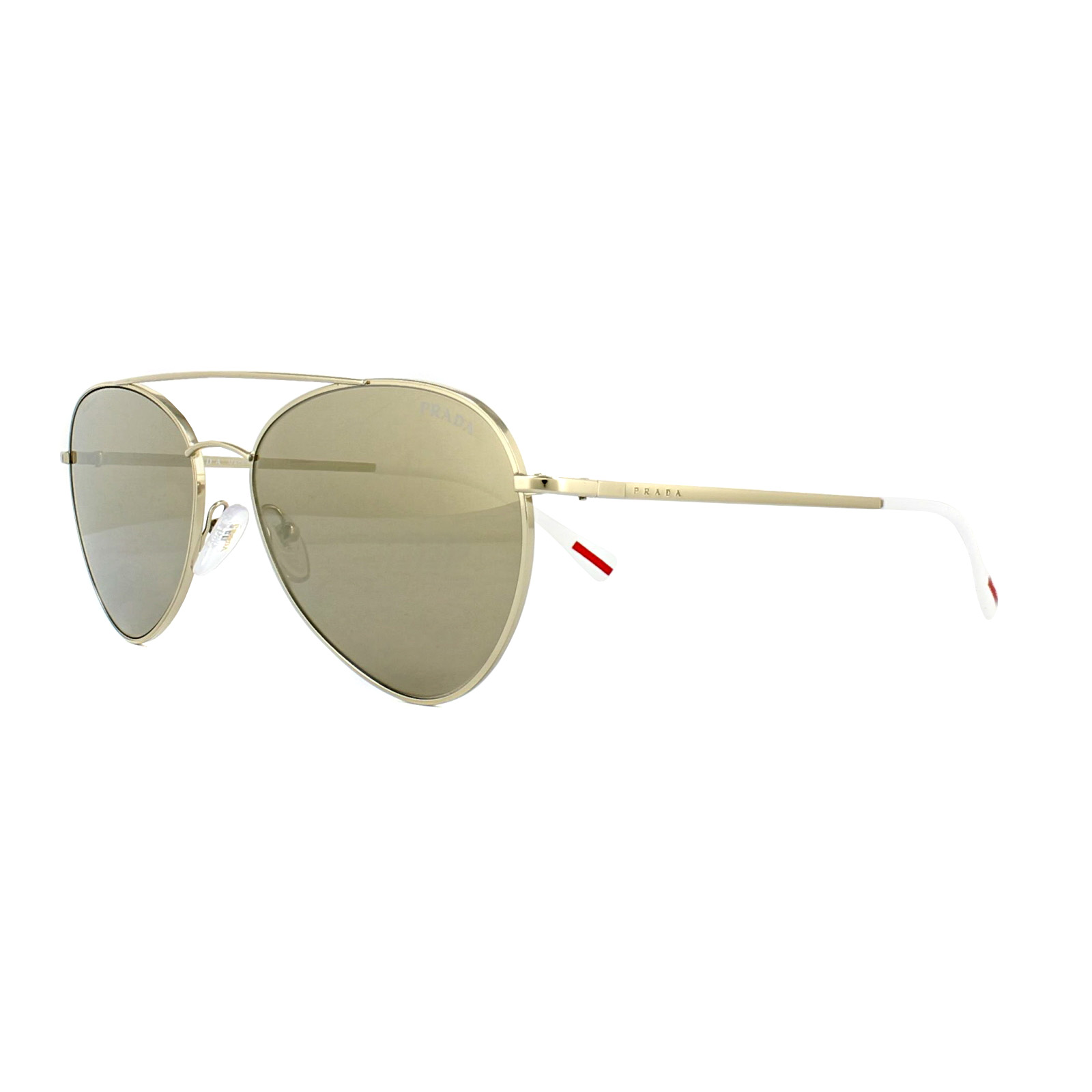 2c8ded51c328 Sentinel Prada Sport Sunglasses 50SS ZNV1C0 Pale Gold Brown Gold Mirror