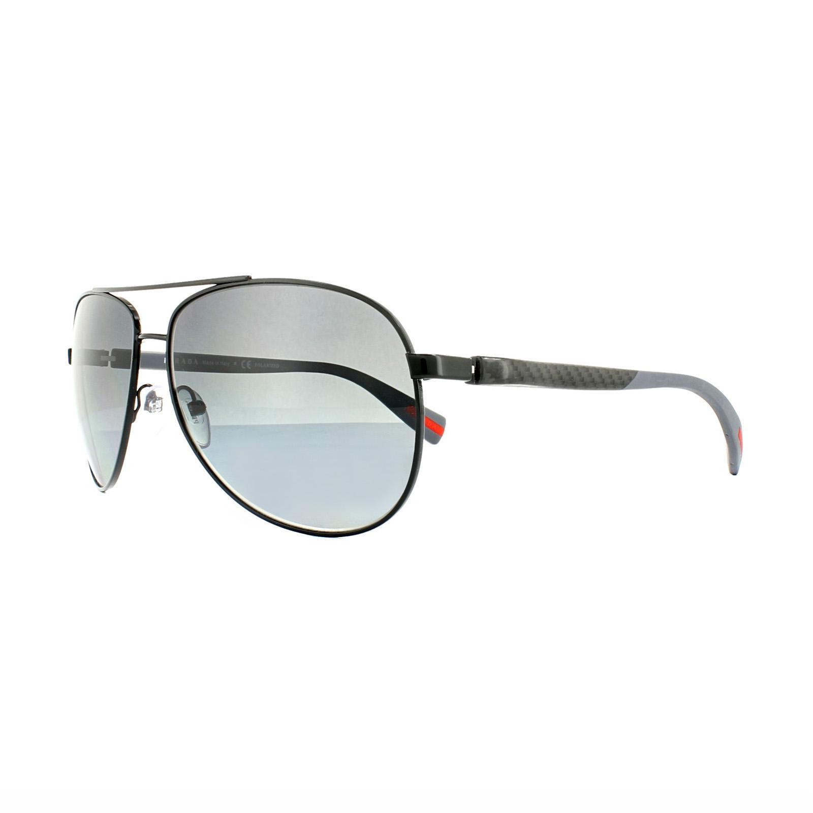 2ef1ce095f Sentinel Prada Sport Sunglasses 51OS 7AX5W1 Black Grey Gradient Polarized