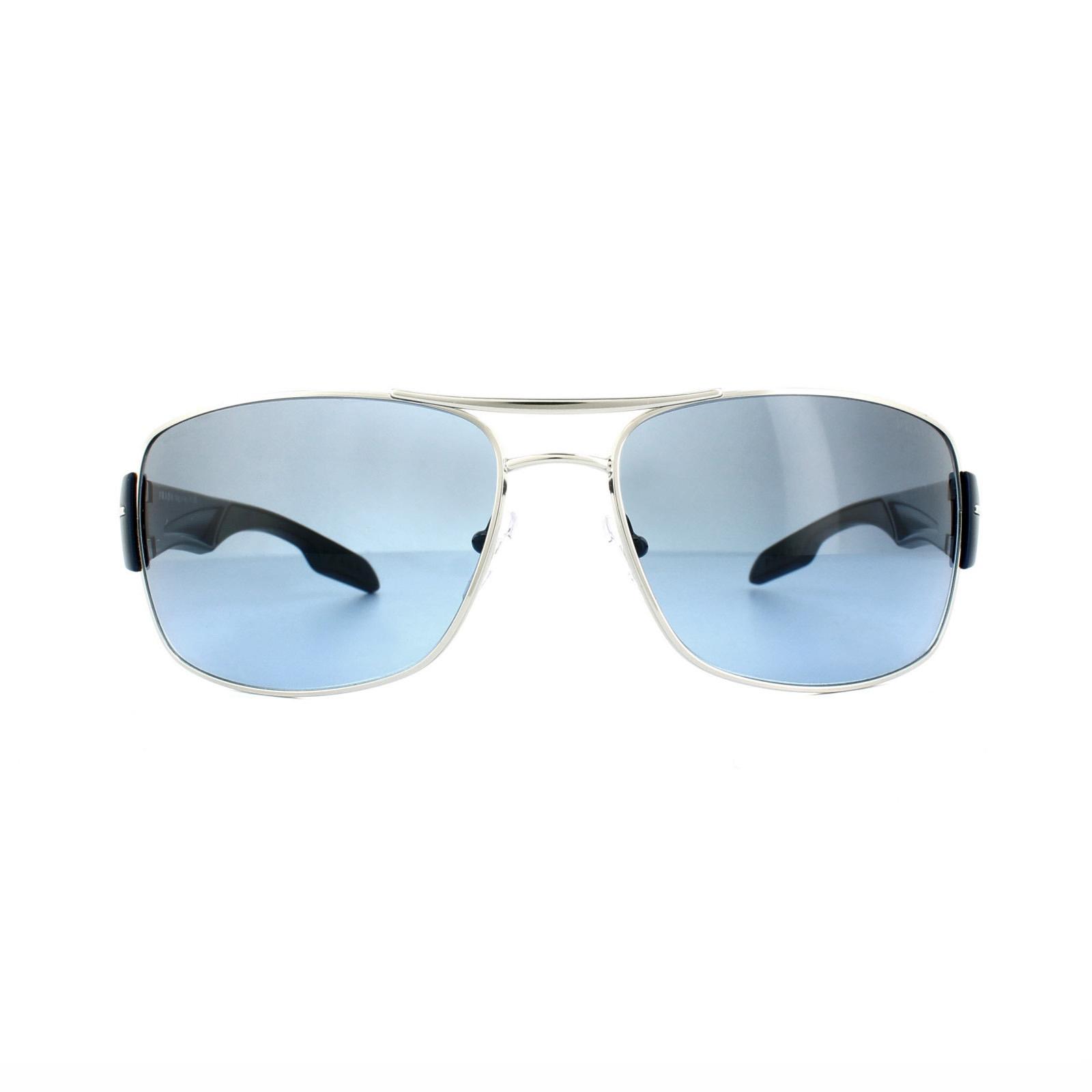 b235faab09 CENTINELA Prada Sport gafas de sol 53NS 1BC5I1 gradiente azul humo azul de  plata