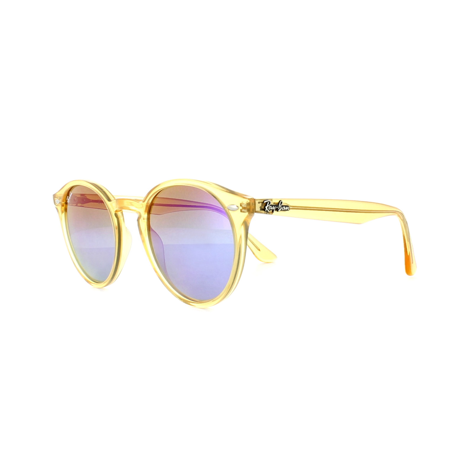2574d97870 Sentinel Ray-Ban Sunglasses 2180 6277B1 Yellow Blue Violet Gradient Mirror