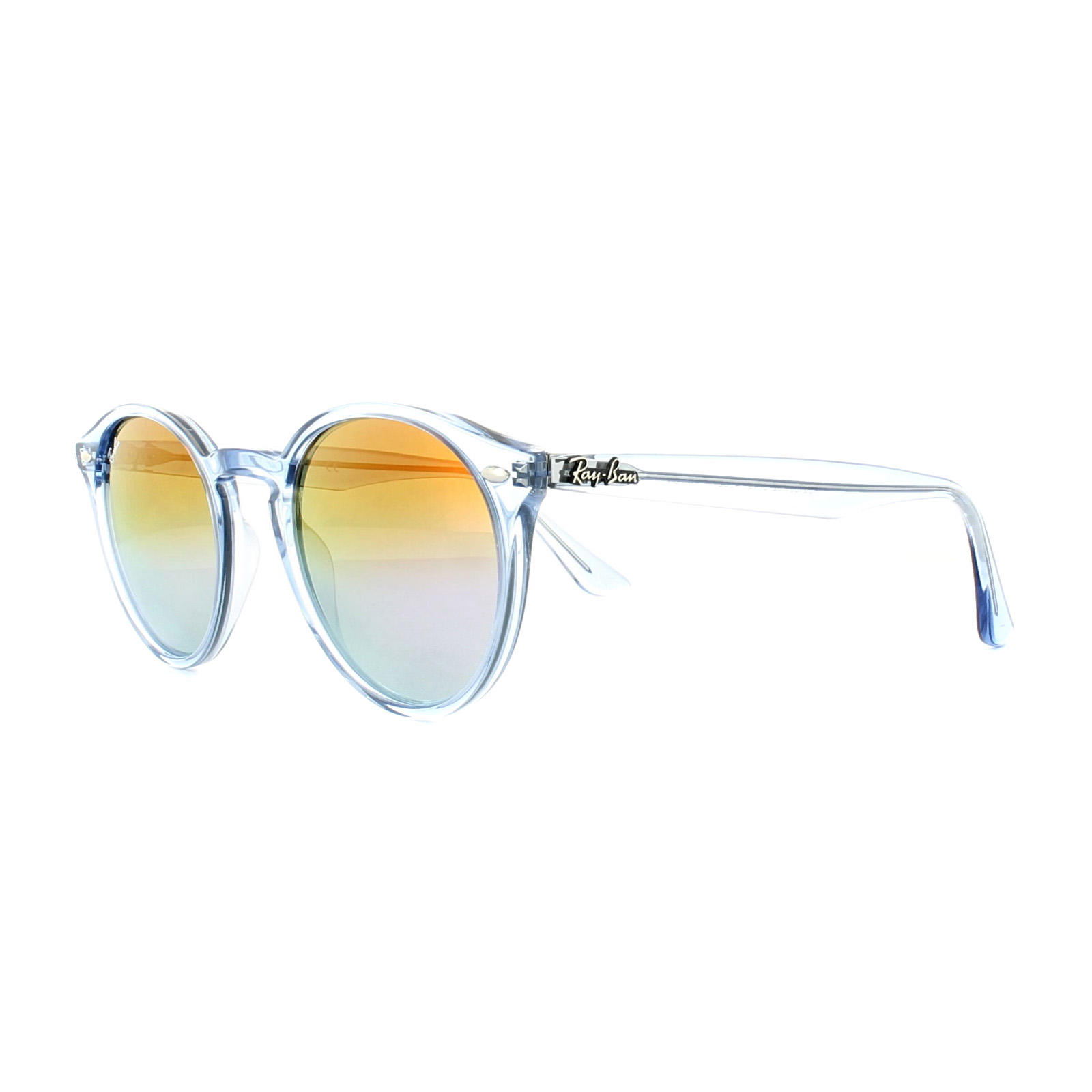 4a666b7abad Sentinel Ray-Ban Sunglasses 2180 6278A9 Light Blue Violet Gradient Mirror