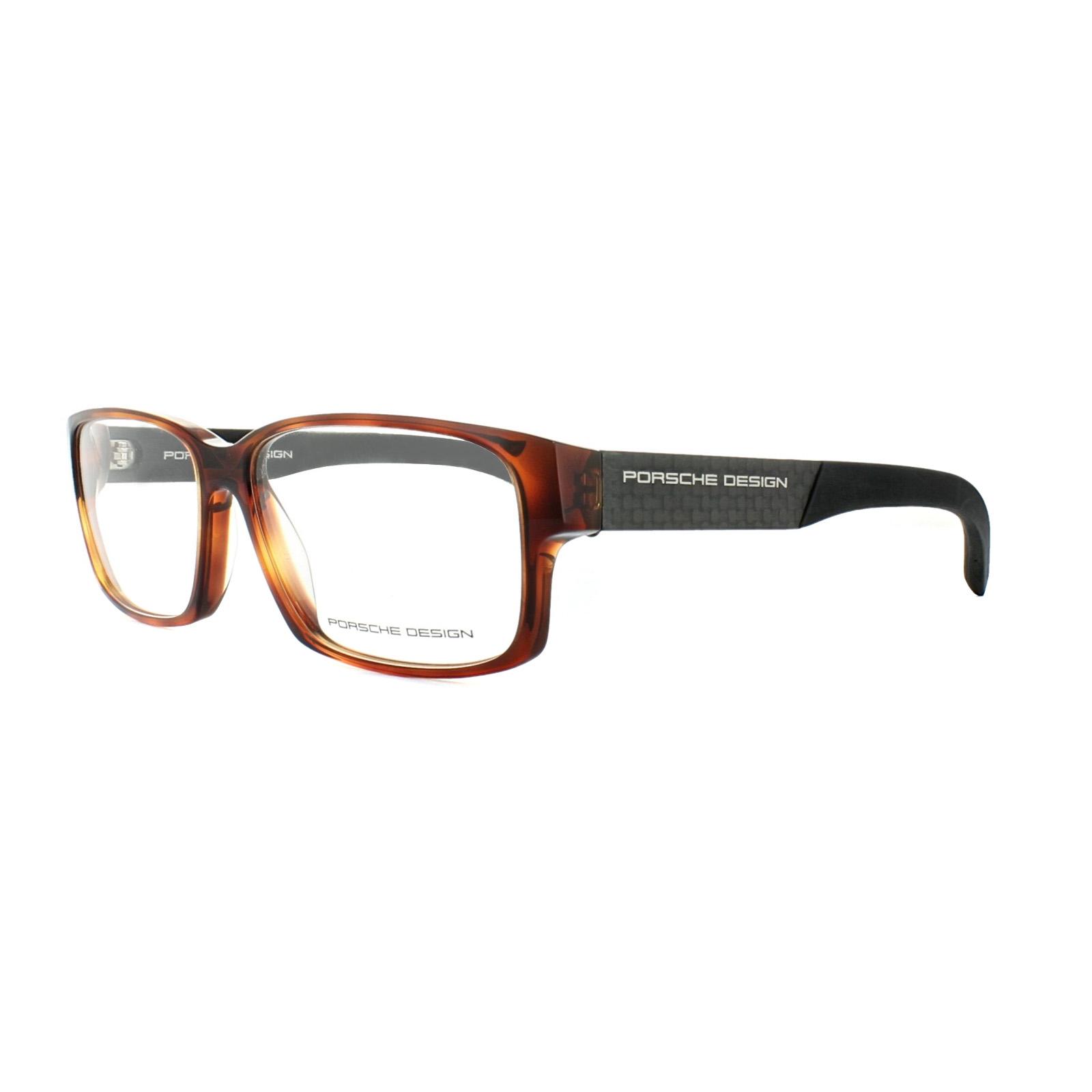 ebedf899217 Porsche Design Glasses Frames P8241 D Havana Black 4046901711450