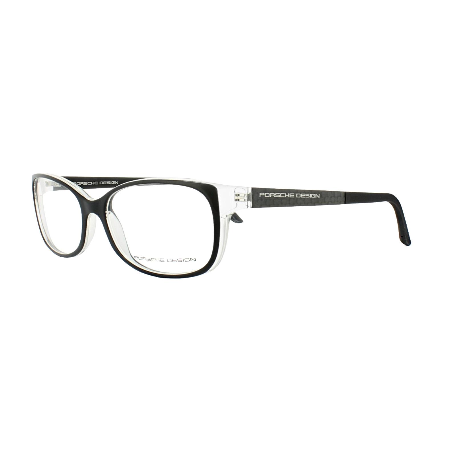060d5a1f77a Porsche Design Glasses Frames P8247 A Black on Crystal 4046901717216 ...