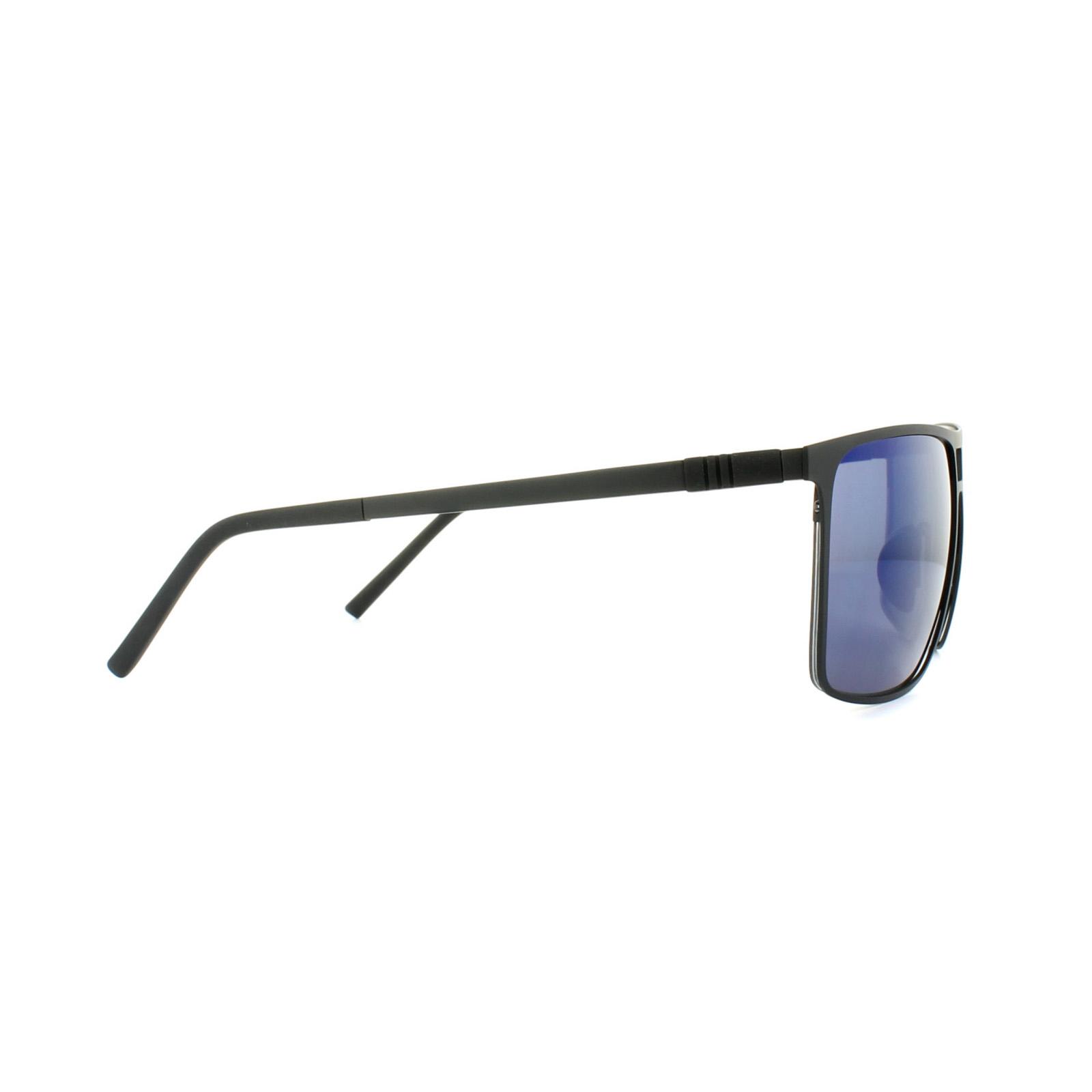 0c8373c64e Details about Porsche Design Sunglasses P8610 A V790 Black Dark Blue Mirror