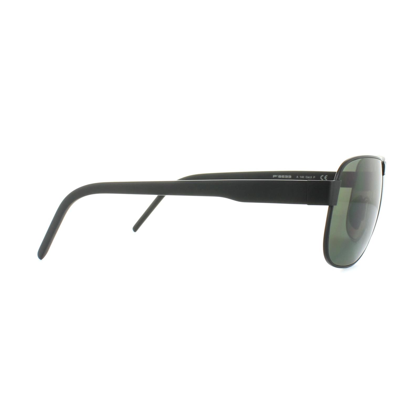Porsche design Gafas de Sol P8633a V401 Negro Gris Verde