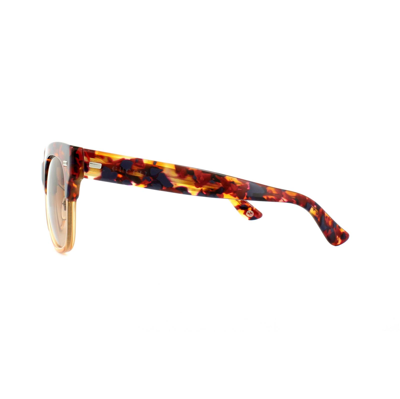 0493775ec7a Sentinel Gucci Sunglasses 3744 XC4 63 Red Havana Honey Brown Gradient