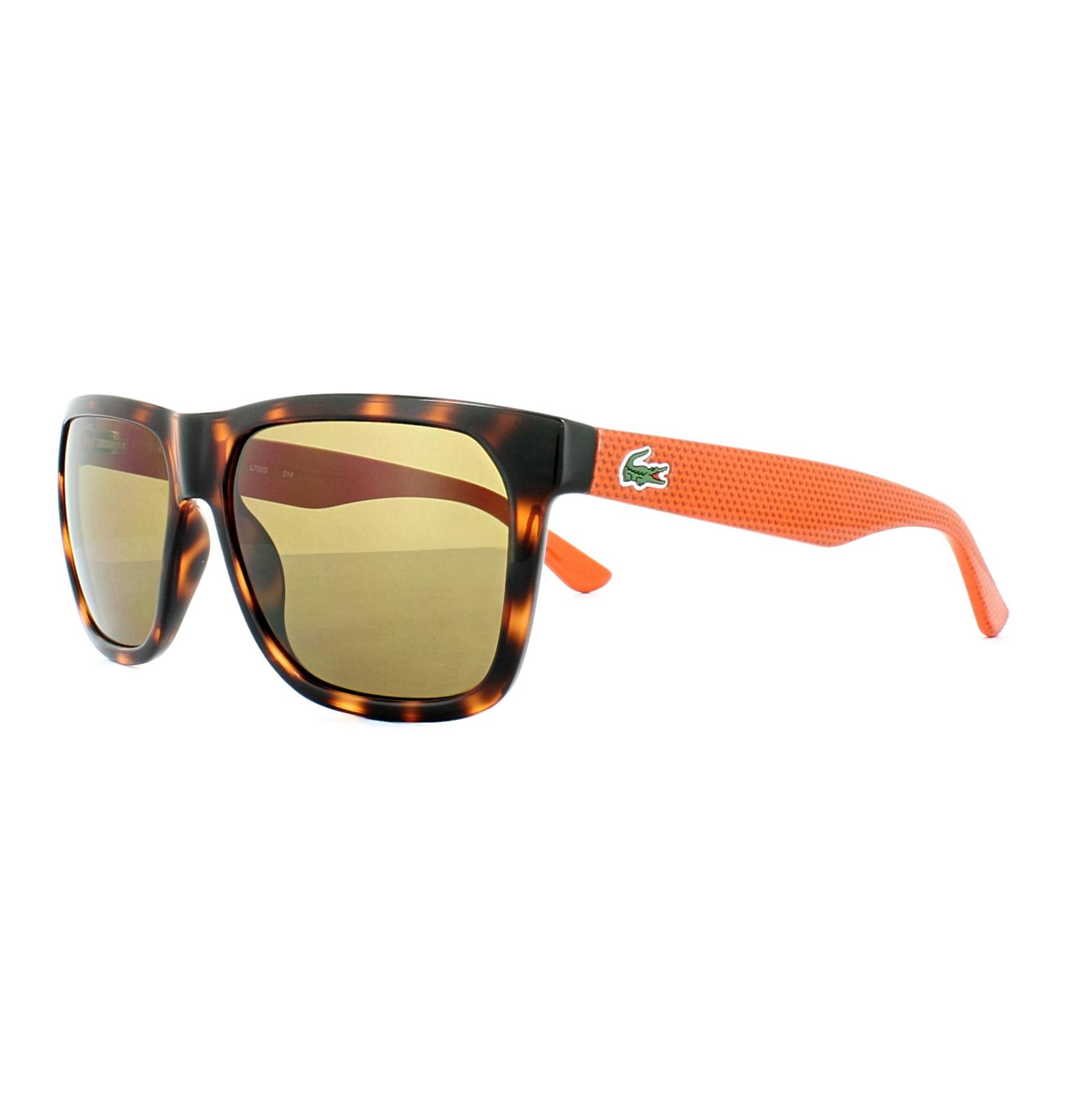 4bbe3c94355d5 Lacoste Sunglasses L732S 214 Havana Brick Brown 883121964372   eBay