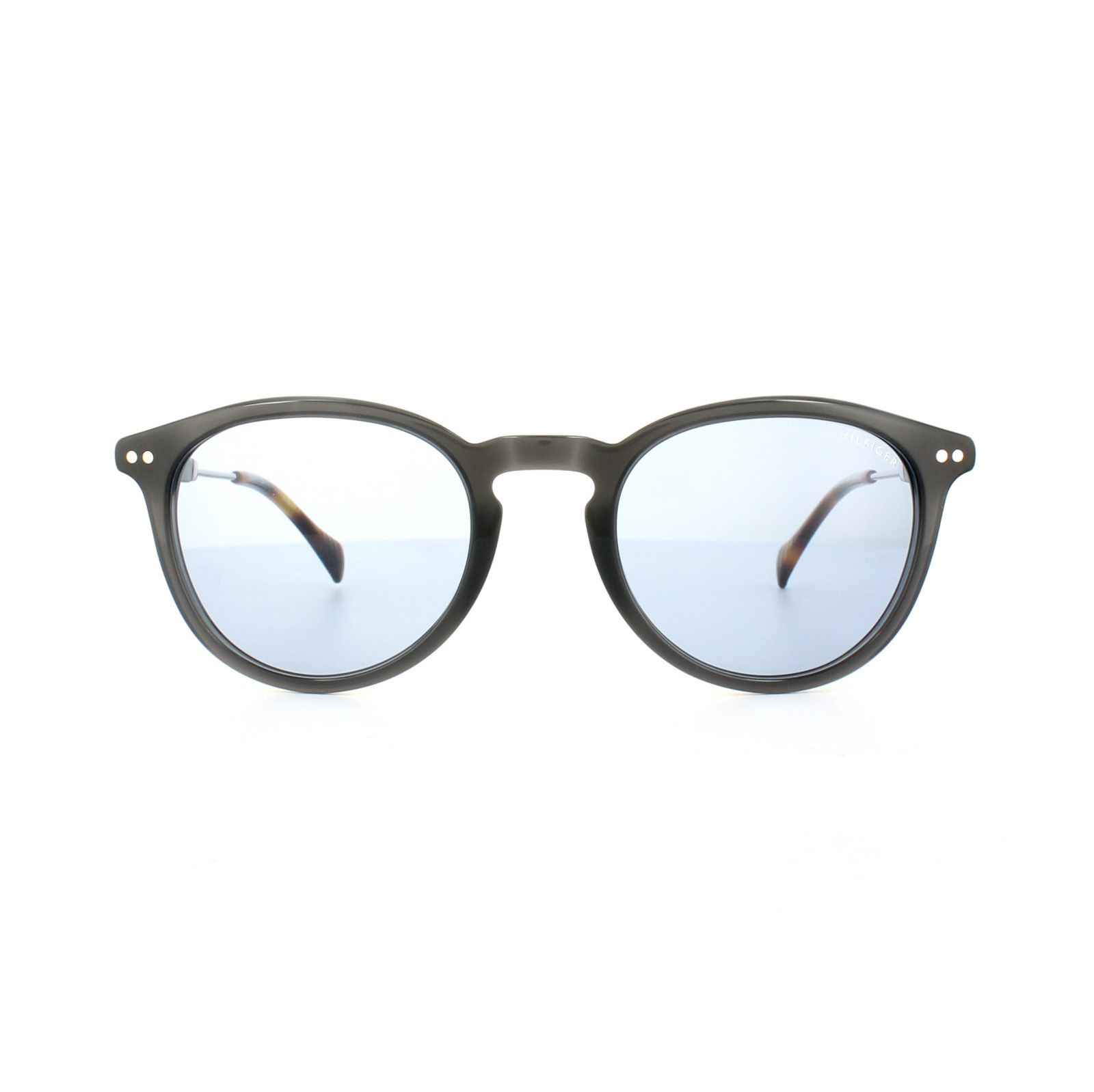 5f6a0b9ee4 Sentinel Tommy Hilfiger Sunglasses TH 1198 S 5RK 61 Dark Grey Silver Light  Blue Mirror