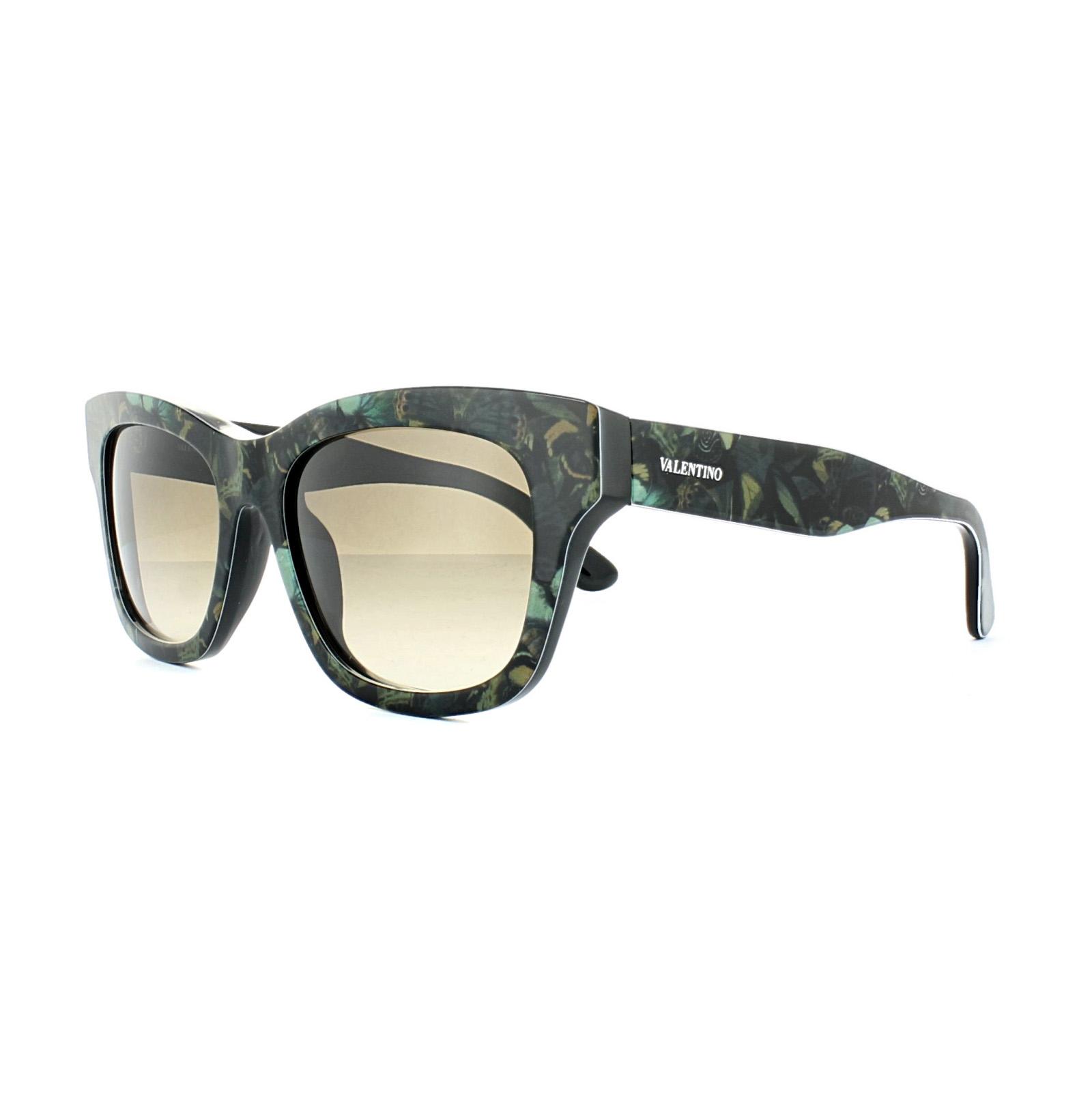 VALENTINO Gafas de sol v720sb 962 Camuflaje MARIPOSA VERDE MILITAR ...