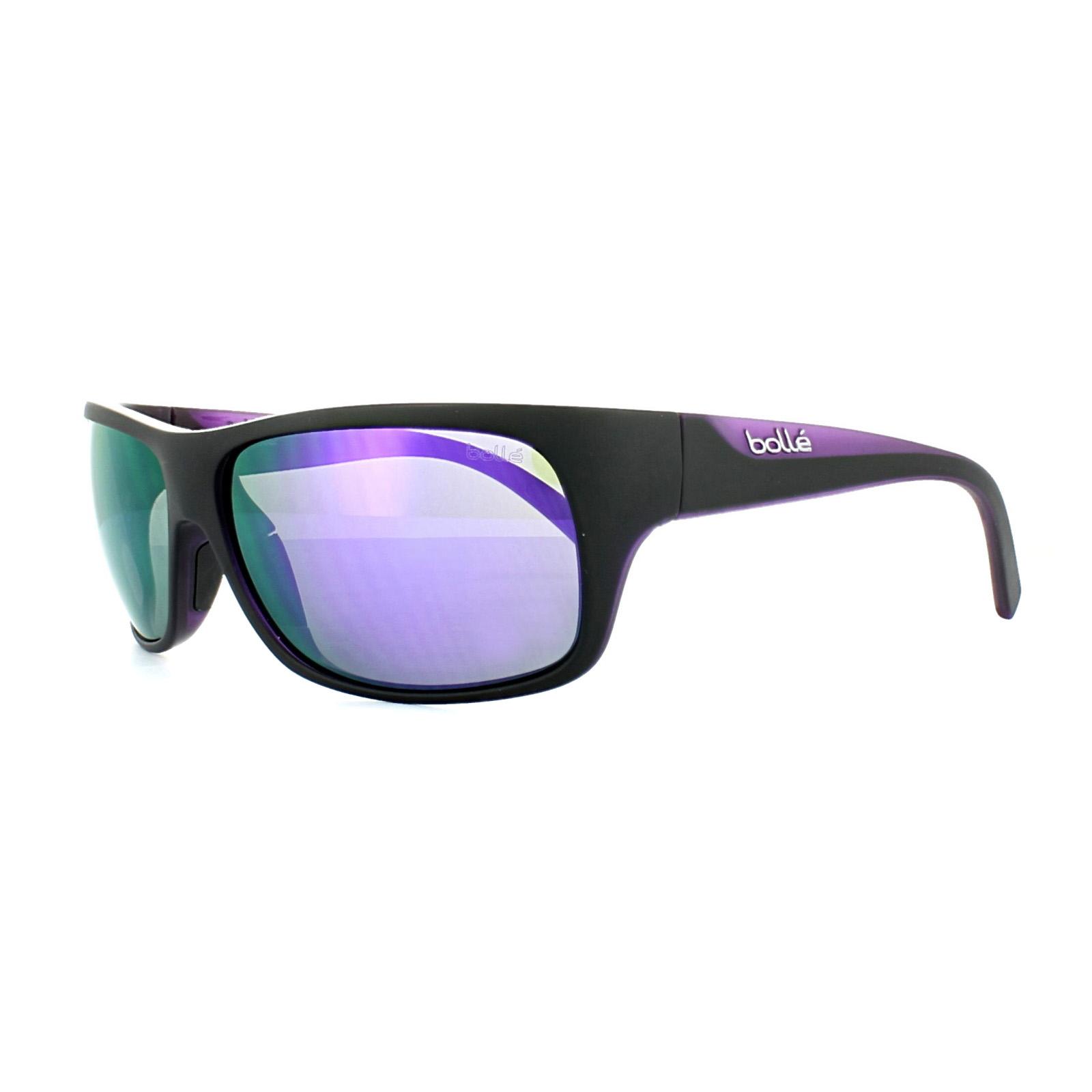 b1ac5d2e13 Sentinel Bolle Sunglasses Viper 11947 Matt Black Blue Violet Mirror