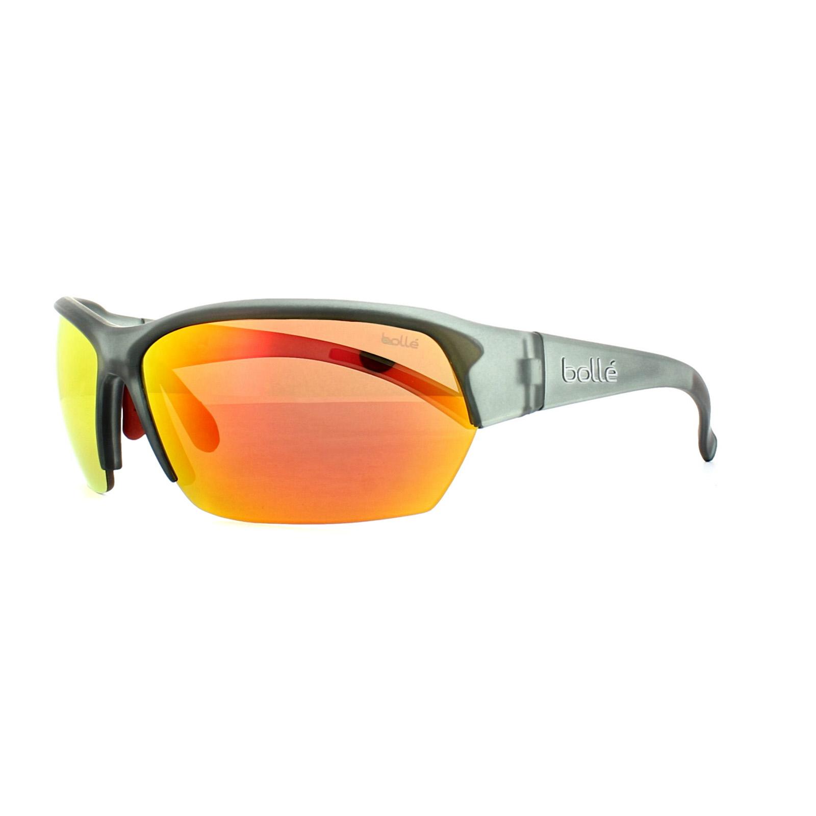 f456ca1dc6 Sentinel Bolle Sunglasses Ransom 11696 Satin Crystal Grey TNS Fire Red  Mirror Polarized