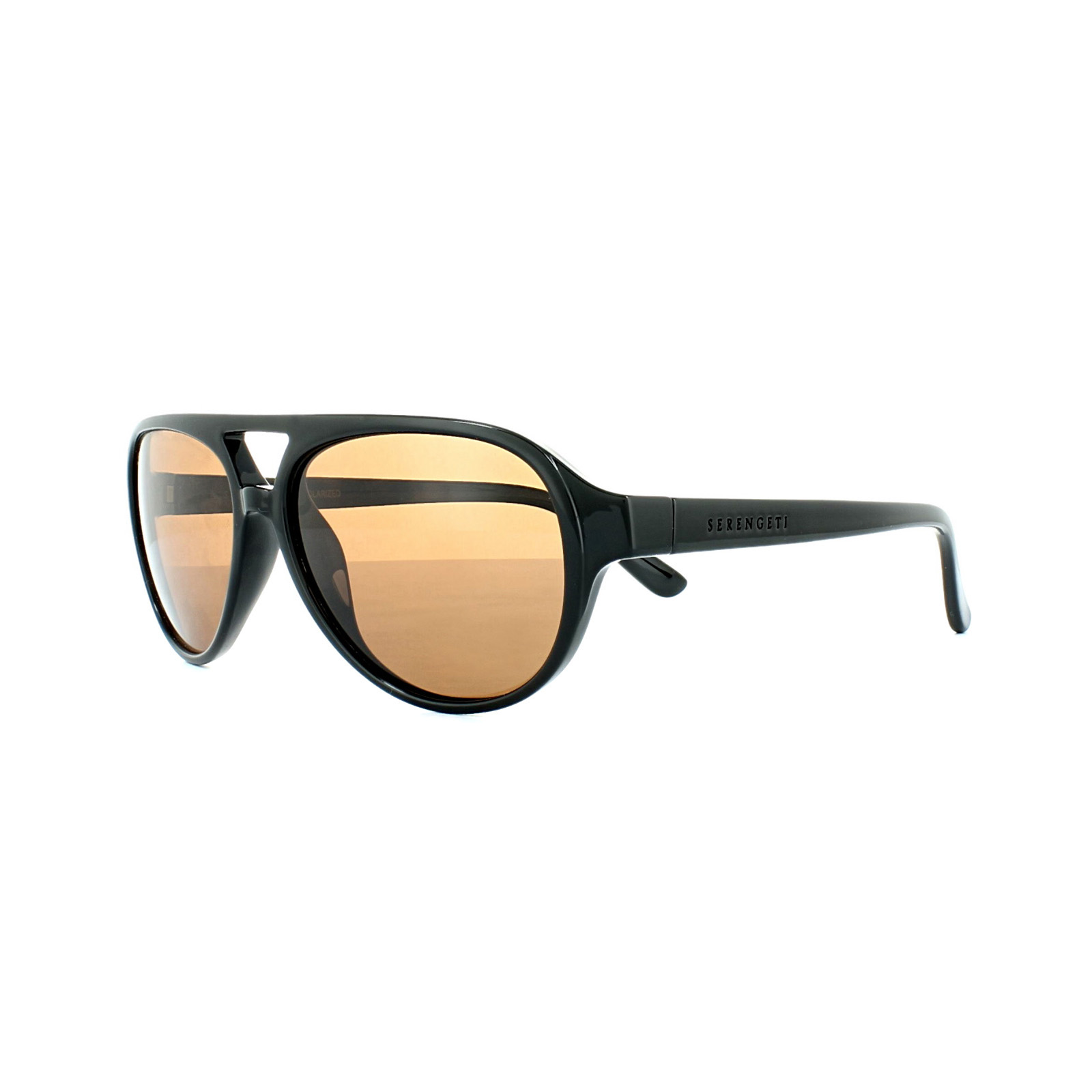 83bfa466c2 Sentinel Serengeti Sunglasses Giorgio 8182 Shiny Black Brown Wood Drivers  Brown Polarized