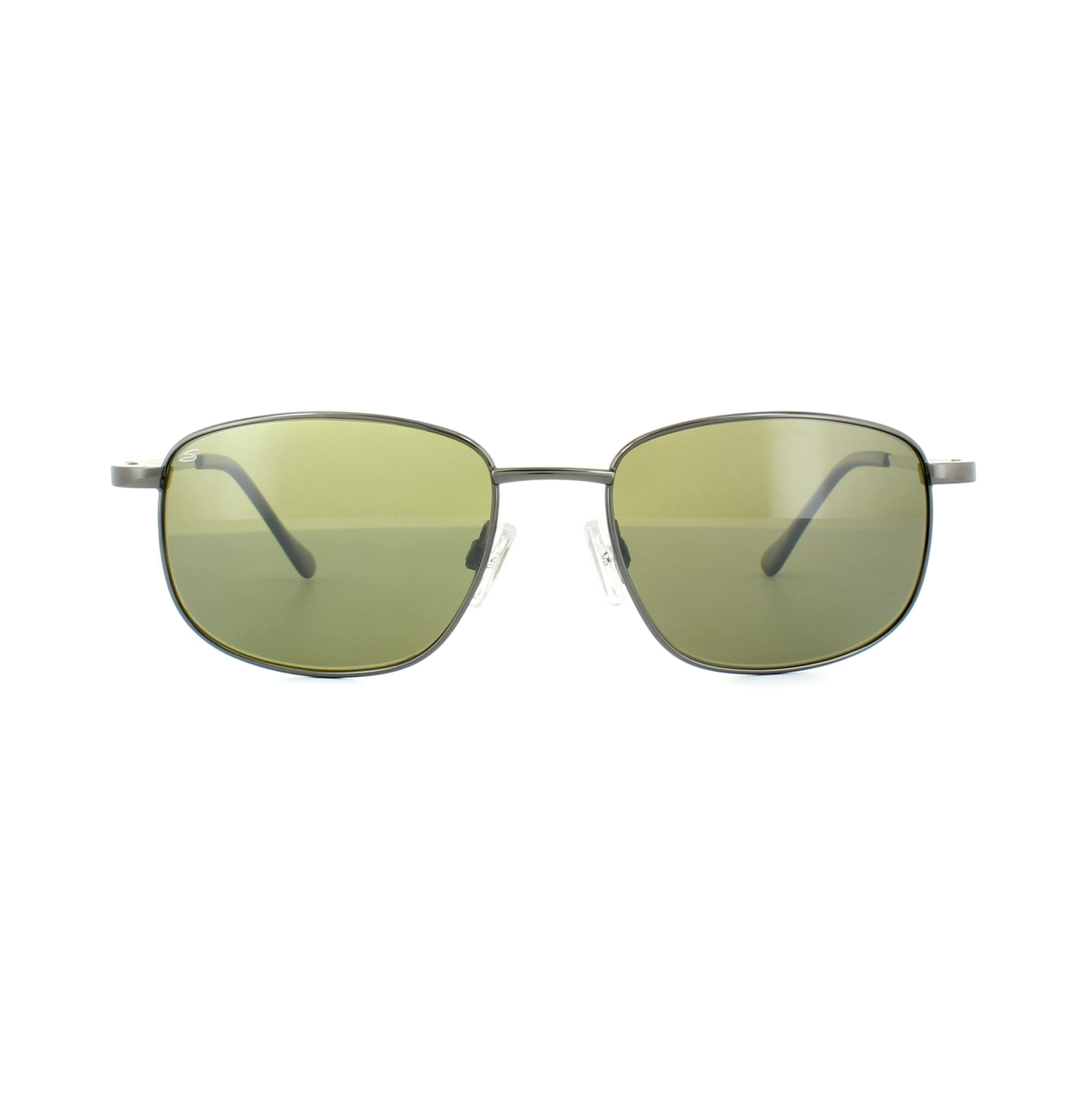 Serengeti Sunglasses Monreale 8401 Shiny Gunmetal Green Polarized 555nm