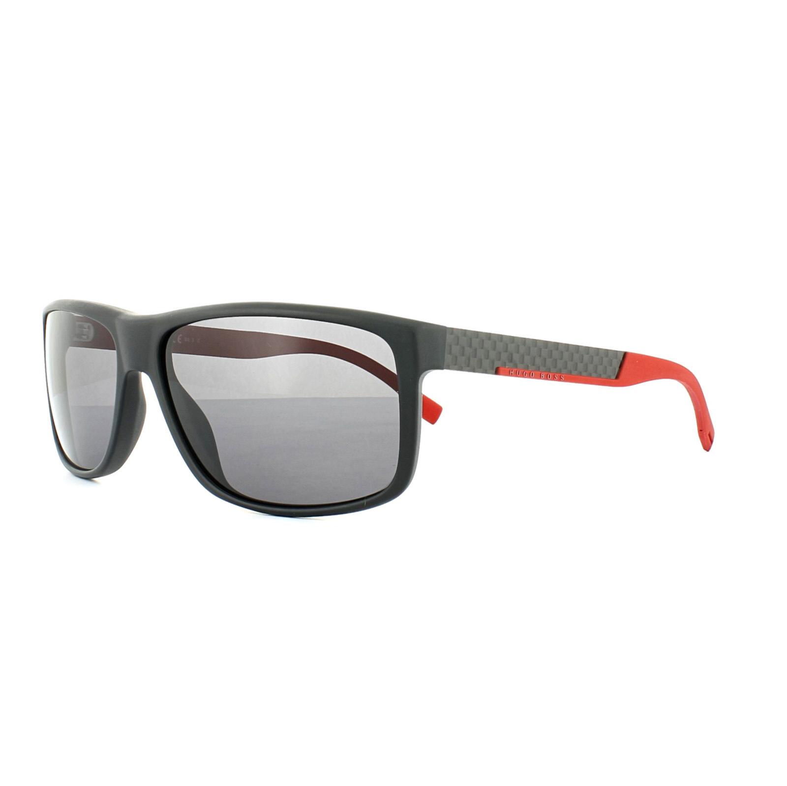 Boss Herren Sonnenbrille » BOSS 0637/S«, schwarz, HXA/3H - schwarz/grau