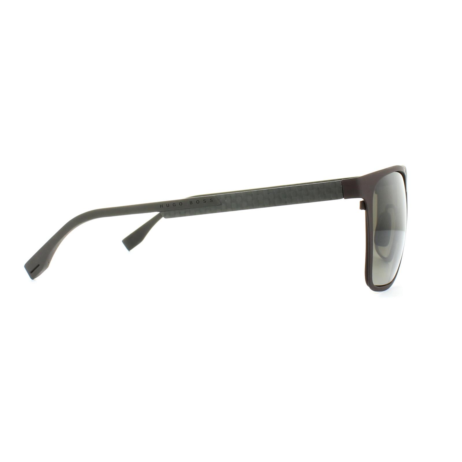 Sentinel Hugo Boss Sunglasses 0732 KCR HA Matt Brown Carbon Brown Gradient f914245cfe72