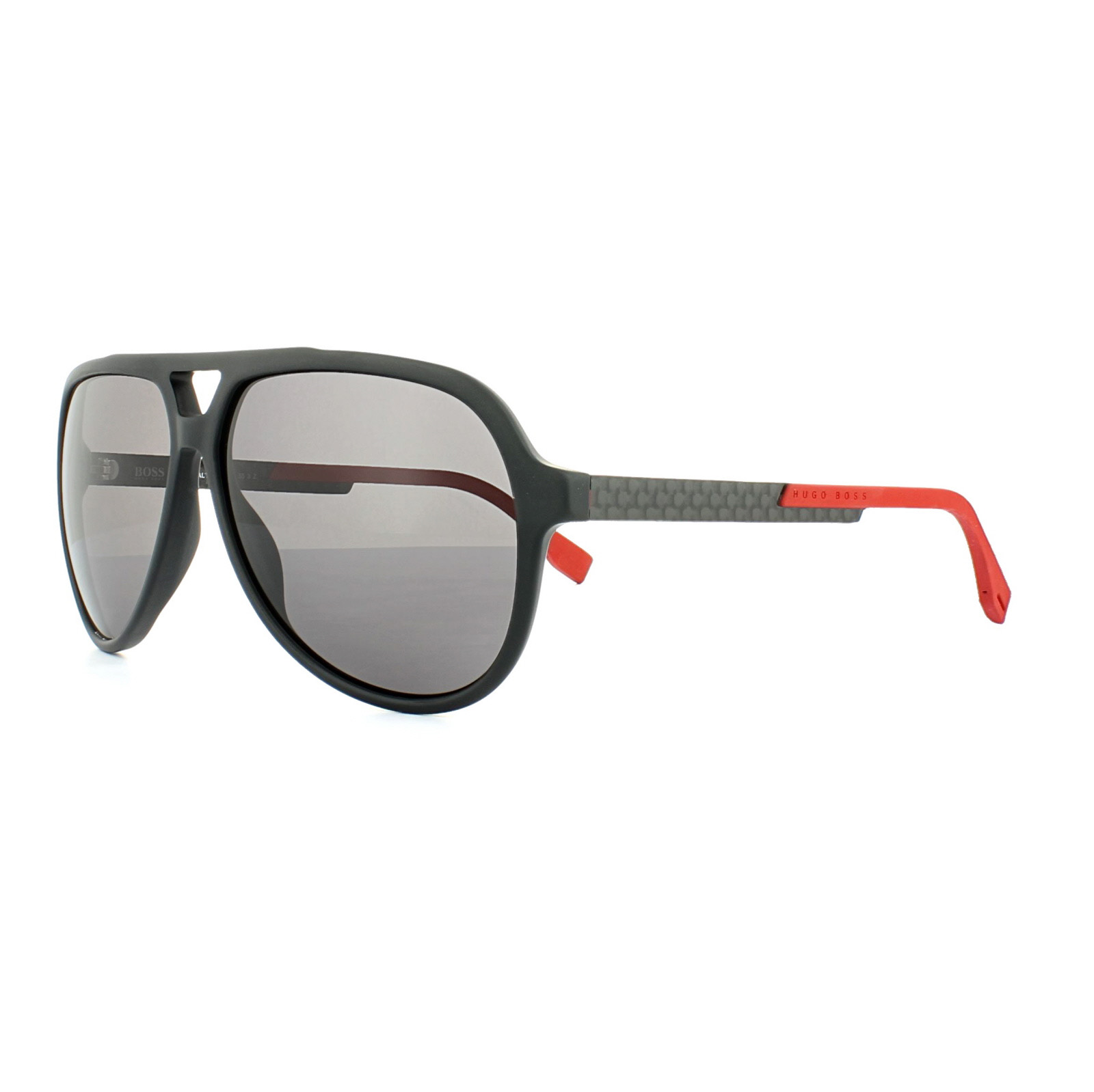 c31b75abdc6c Sentinel Hugo Boss Sunglasses 0731 KDG 3H Black Carbon Red Grey Polarized