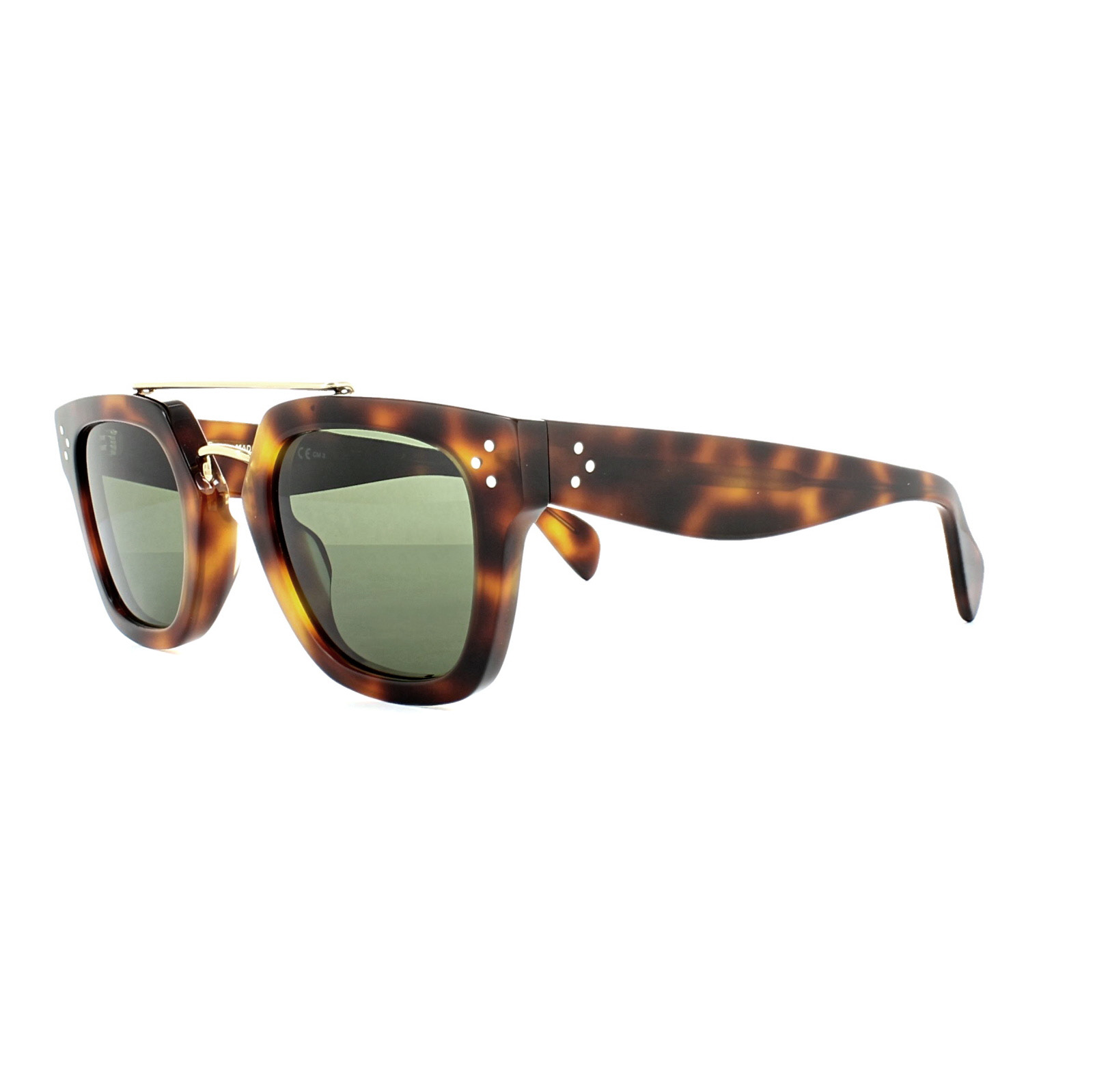 cad1df9f01e8 Sentinel Celine Sunglasses 41077 S Bridge 05L 1E Havana Grey Green