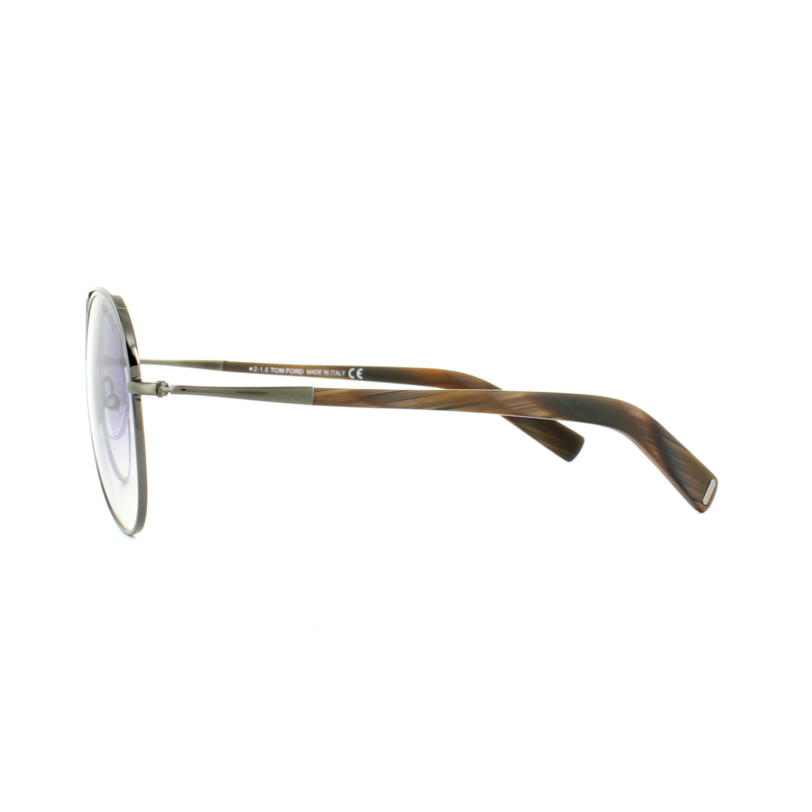 915e8e5f462 Sentinel Tom Ford Sunglasses 0448 Cody 48Z Dark Shiny Brown Purple Gradient  Mirror