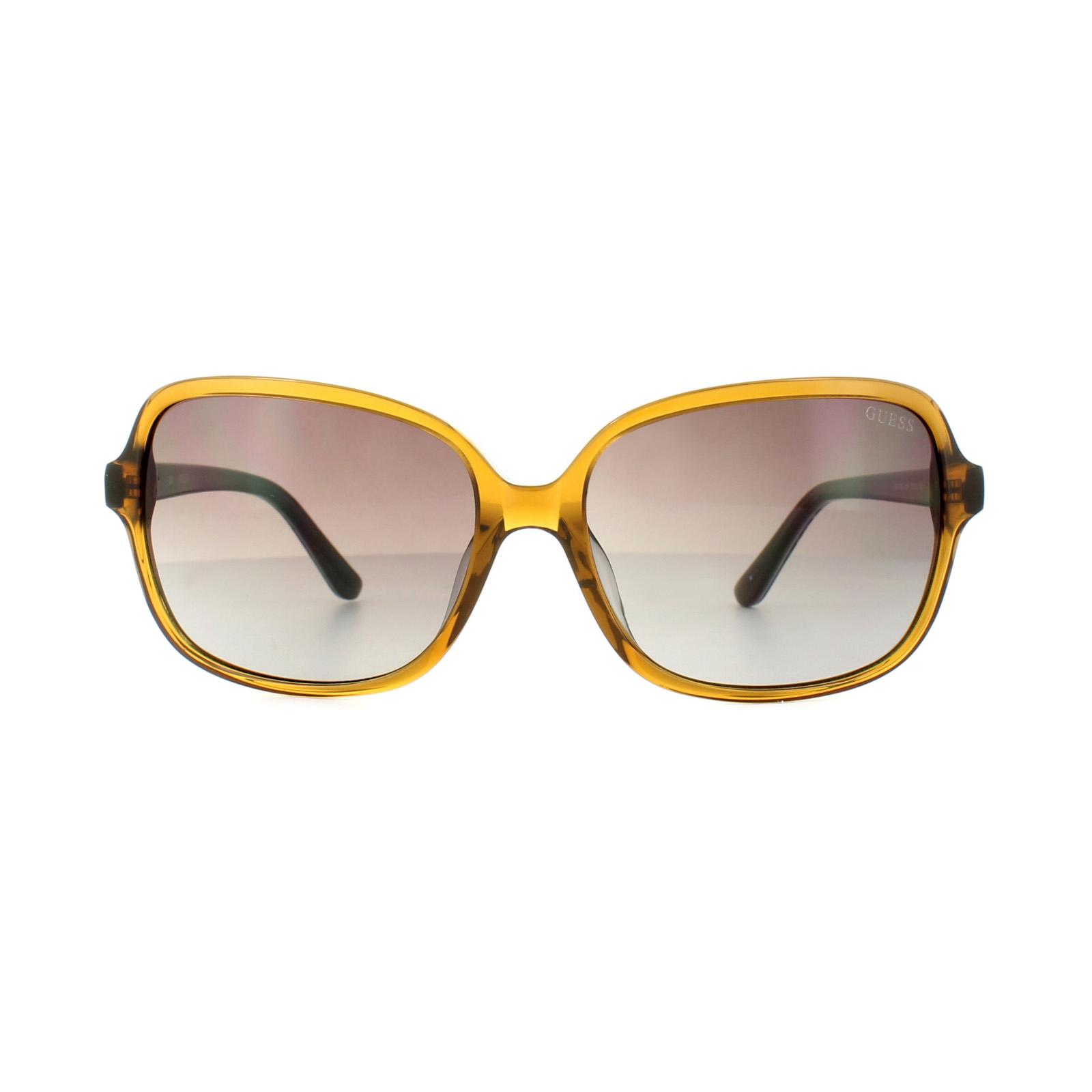 531f0539370d9 Sentinel Guess Sunglasses GU7382 45F Caramel Coloured Fantasy Brown Gradient