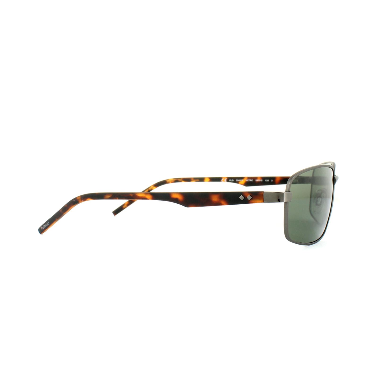 28cfff240c Sentinel Polaroid Sunglasses PLD 2041 S VXT RC Silver Havana Green Polarized