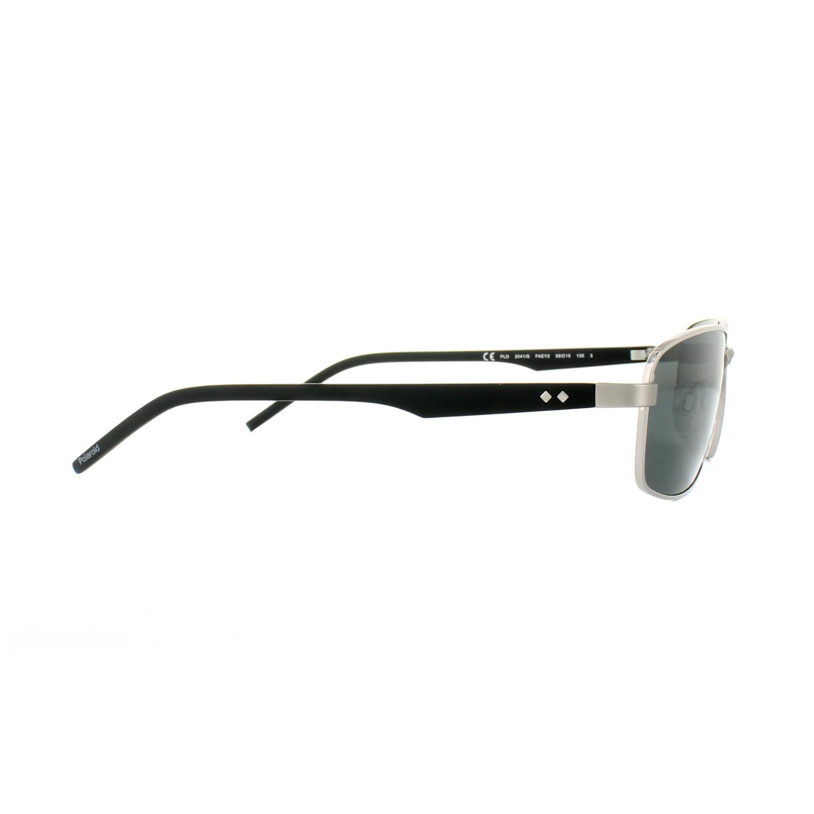 db50e1bf8b Sentinel Polaroid Sunglasses PLD 2041 S FAE Y2 Grey Silver Black Grey  Polarized