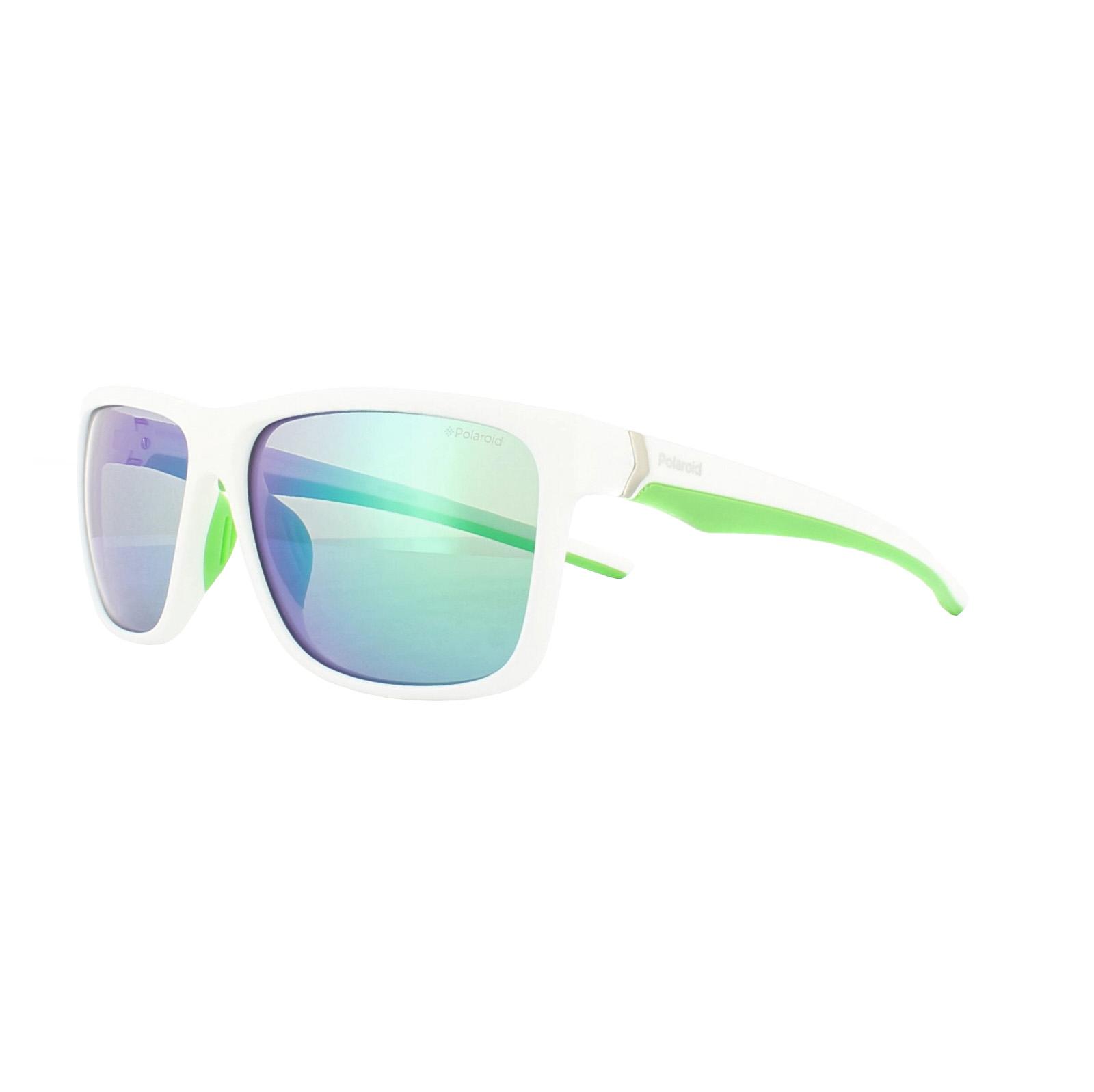 Polaroid Herren Sonnenbrille » PLD 7014/S«, weiß, 07R/5Z - weiß/ grün