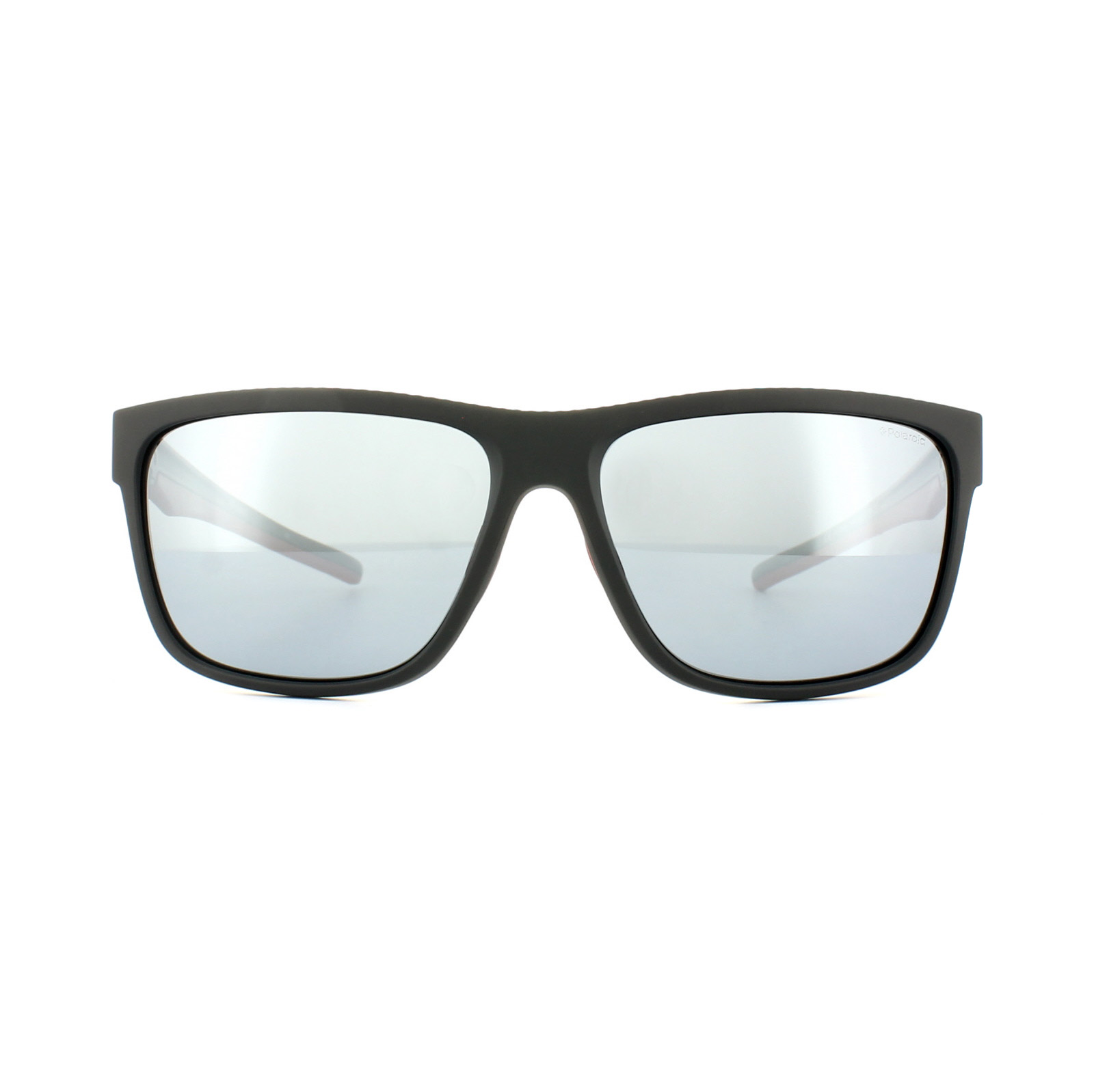 dc32aea1e8 Sentinel Polaroid Sport Sunglasses PLD 7014 S OIT EX Black Red Silver  Mirror Polarized