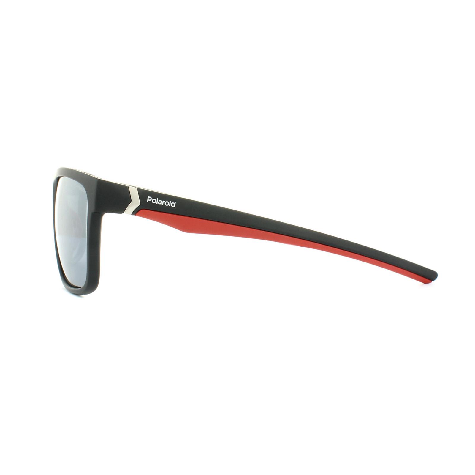 3dc8c1bf38 CENTINELA Polaroid gafas de sol Sport PLD 7014/S OIT EX negro rojo plata espejo  polarizado