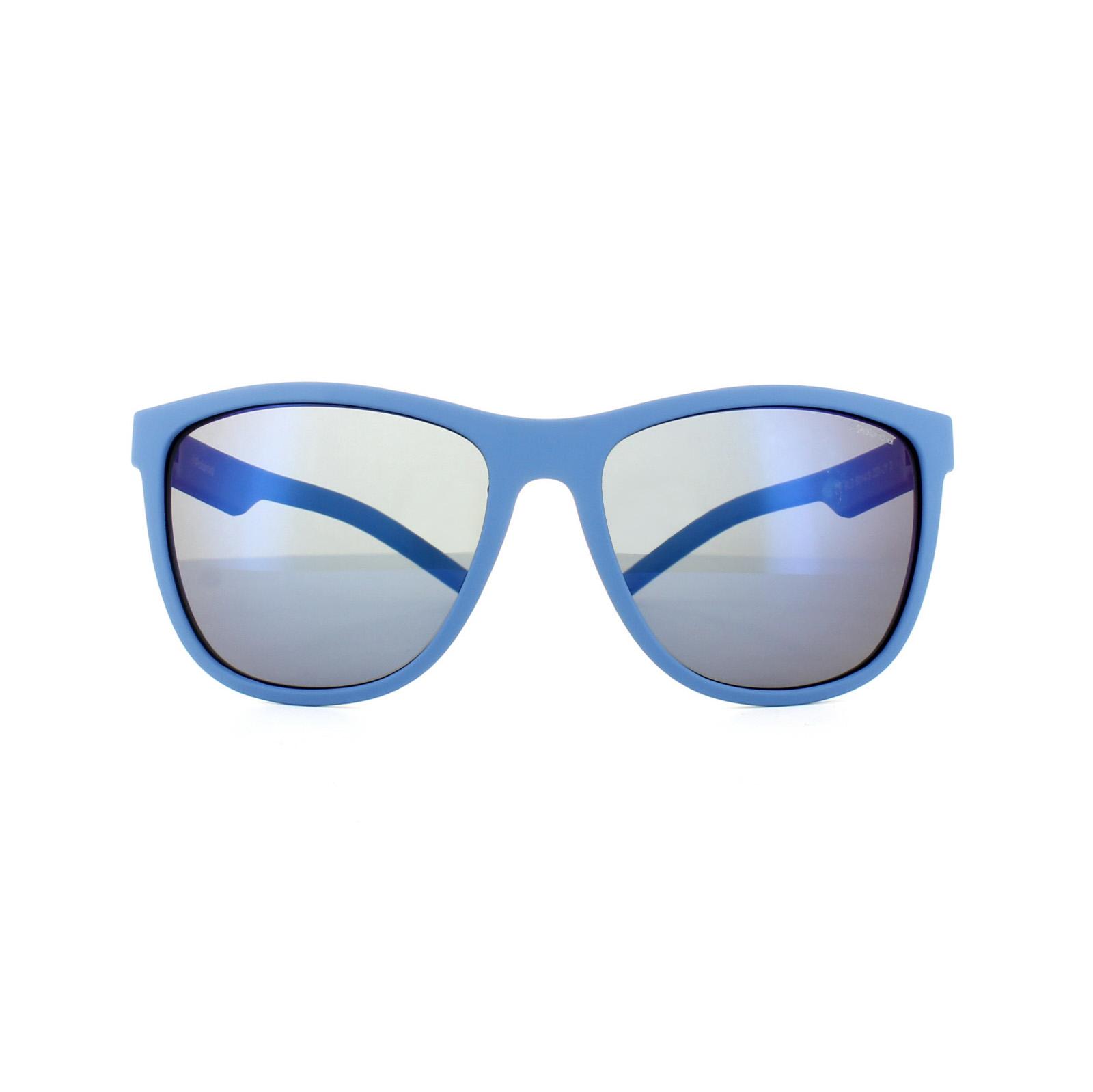 6650bb1333 CENTINELA Polaroid gafas de sol Sport PLD 6014/S JY pared espejo azul gris  azul polarizado