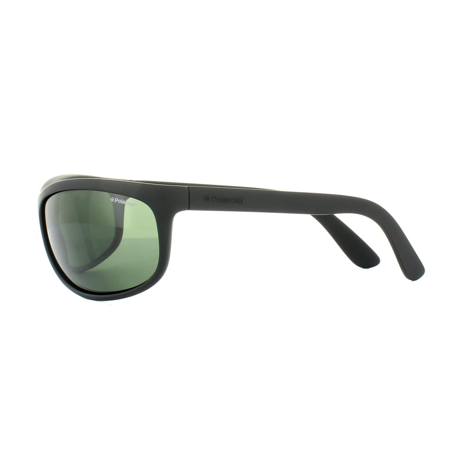 Polaroid Sport Sunglasses P7334 9CA RC Black Rubber Green Polarized